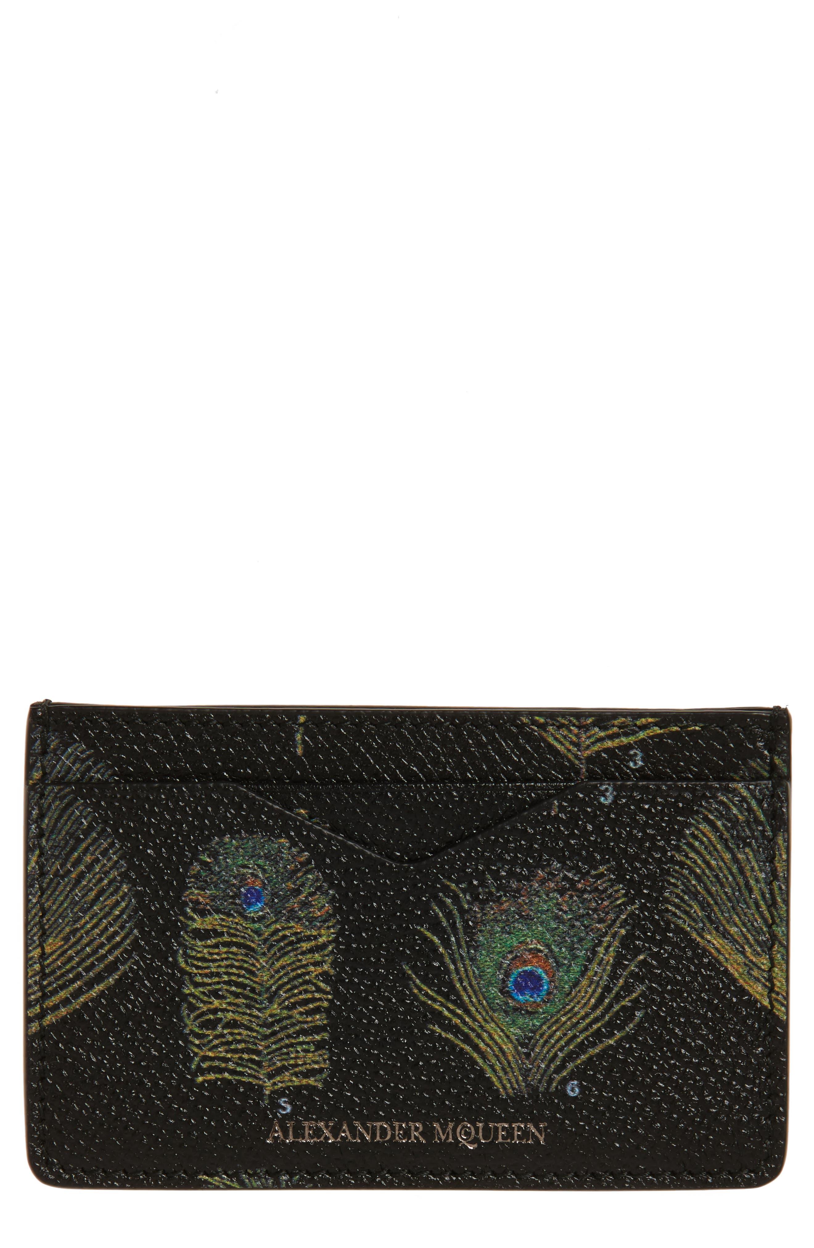 Alexander McQueen Peacock Feather Card Case
