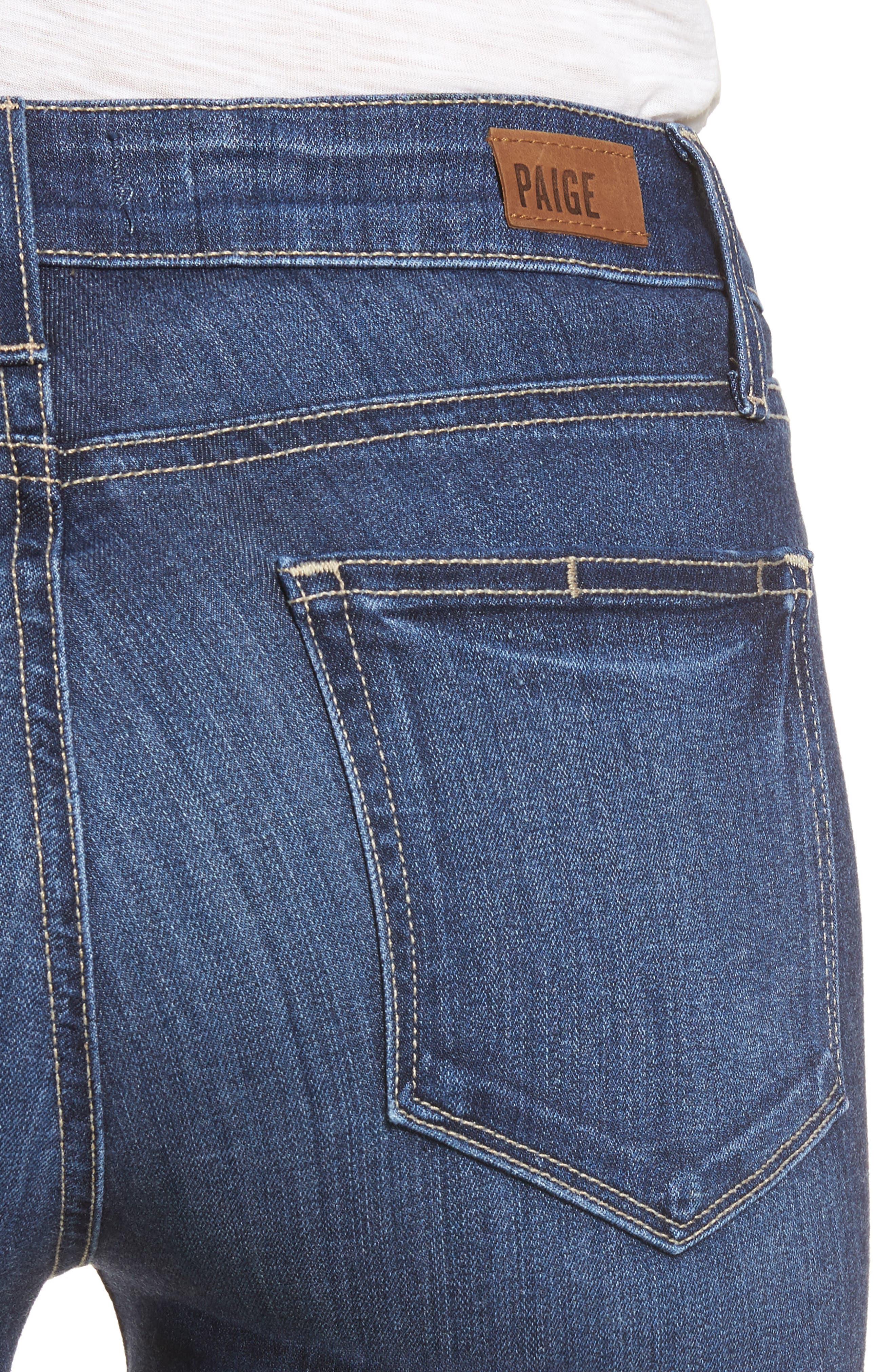 Transcend - Verdugo Ankle Skinny Jeans,                             Alternate thumbnail 4, color,                             Blue