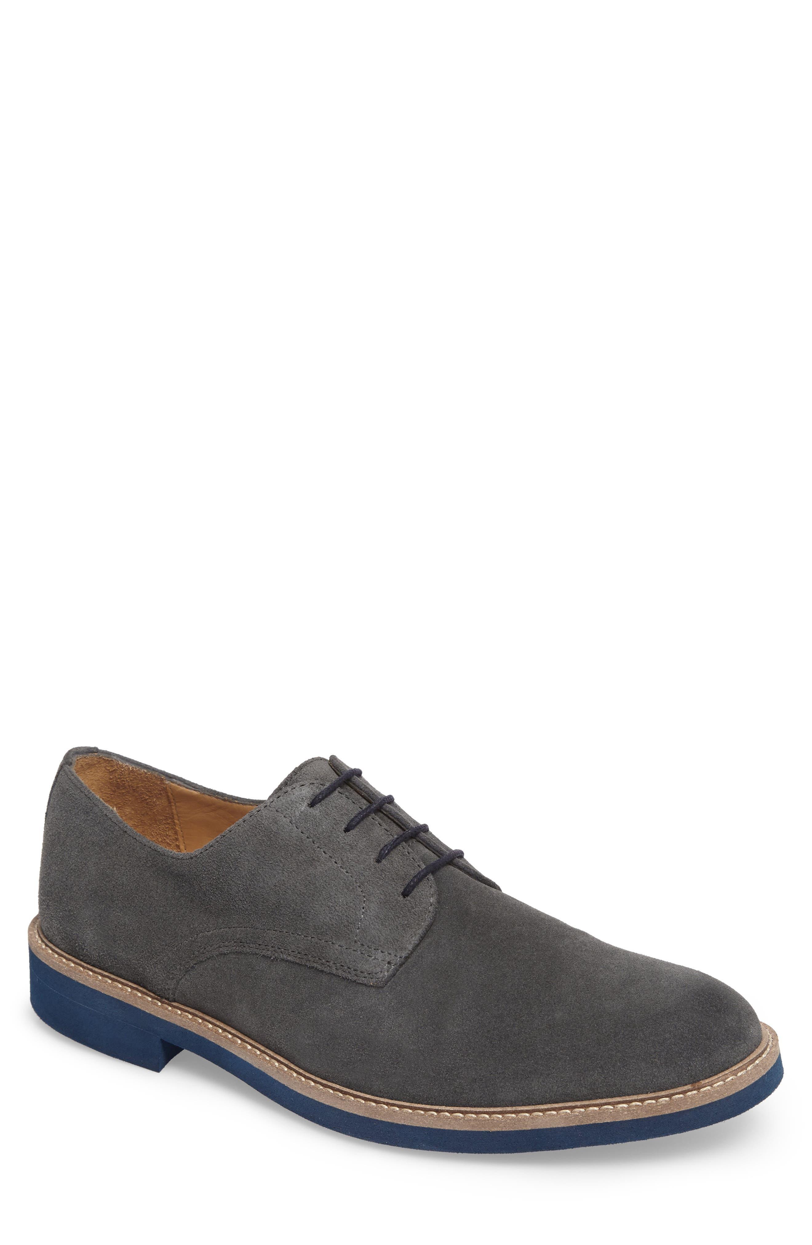 Buck Shoe,                             Main thumbnail 1, color,                             Grey Suede