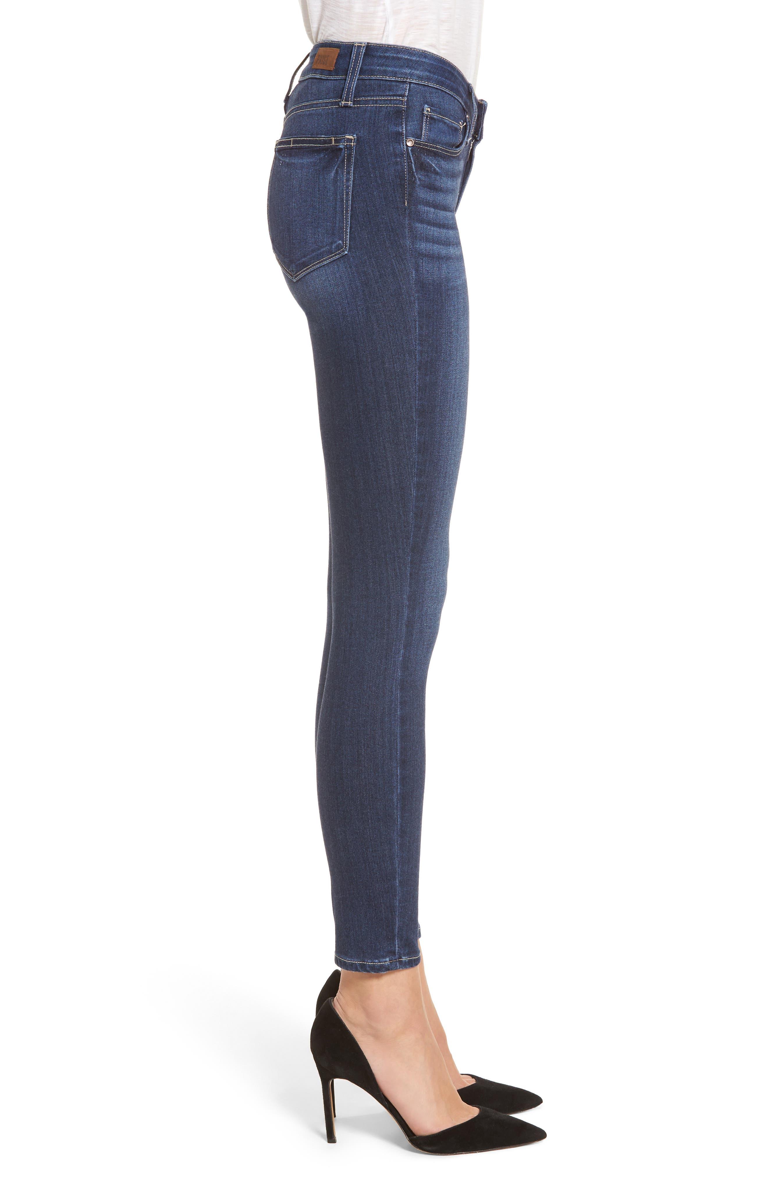 Transcend - Verdugo Ankle Skinny Jeans,                             Alternate thumbnail 3, color,                             Blue