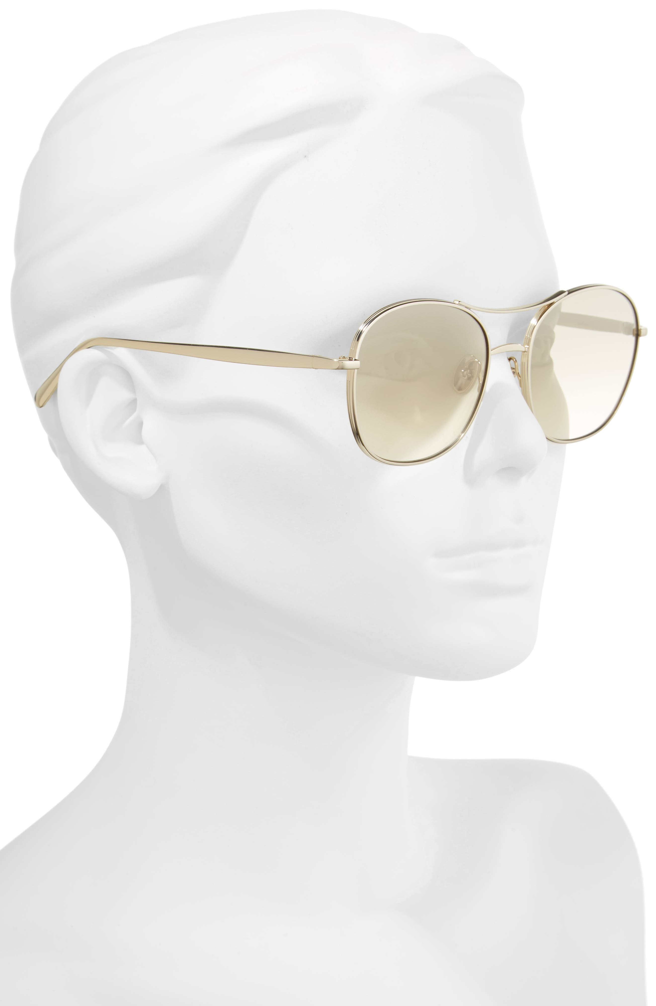 Alternate Image 2  - Chloé 54mm Aviator Sunglasses