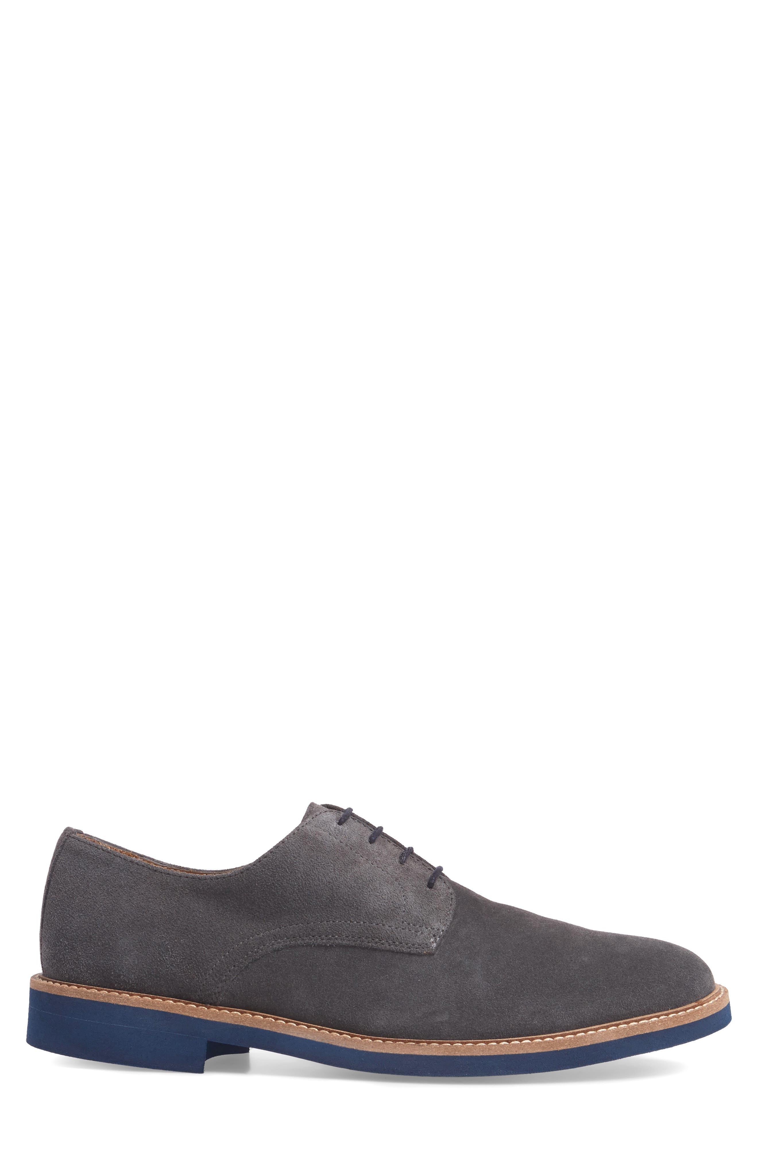 Buck Shoe,                             Alternate thumbnail 3, color,                             Grey Suede