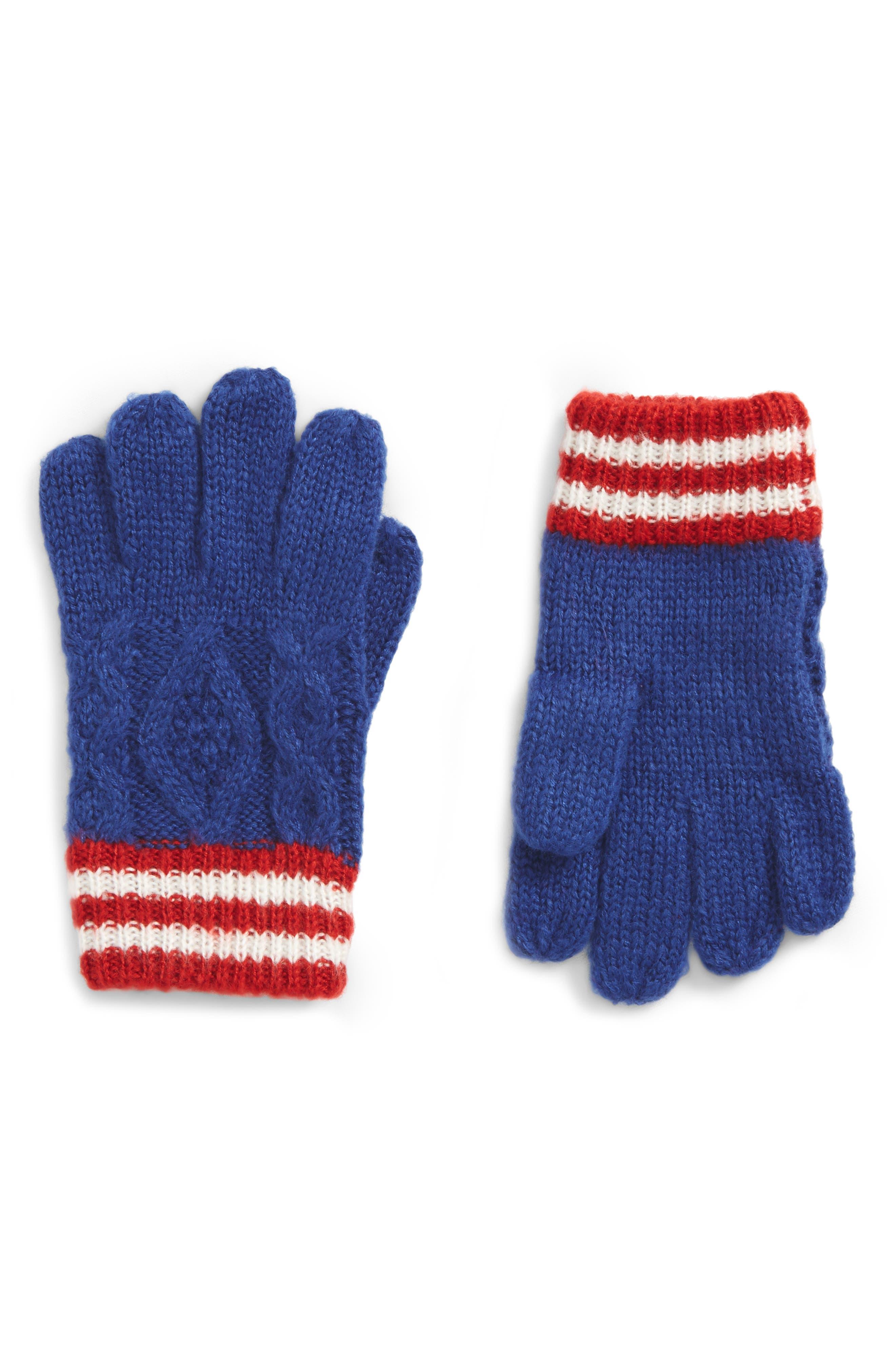 Mini Boden Knit Gloves (Toddler Boys, Little Boys & Big Boys)