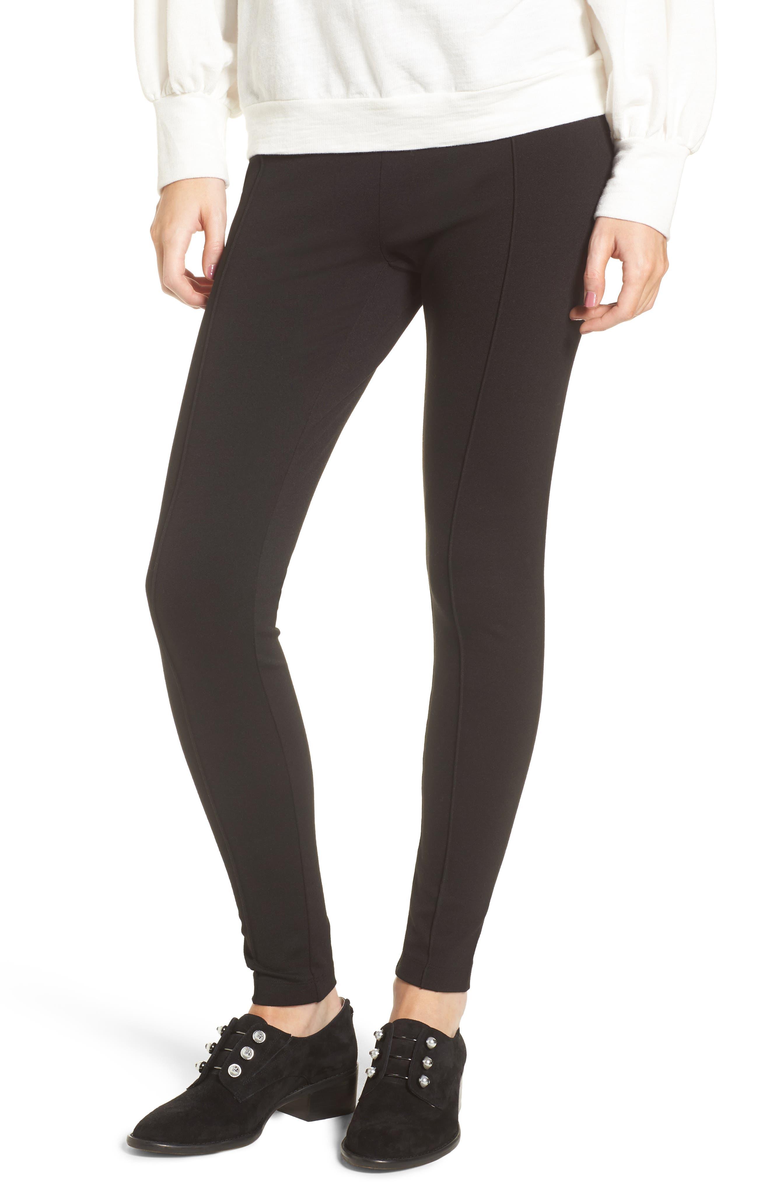 Ponte High Waist Leggings,                         Main,                         color, Black
