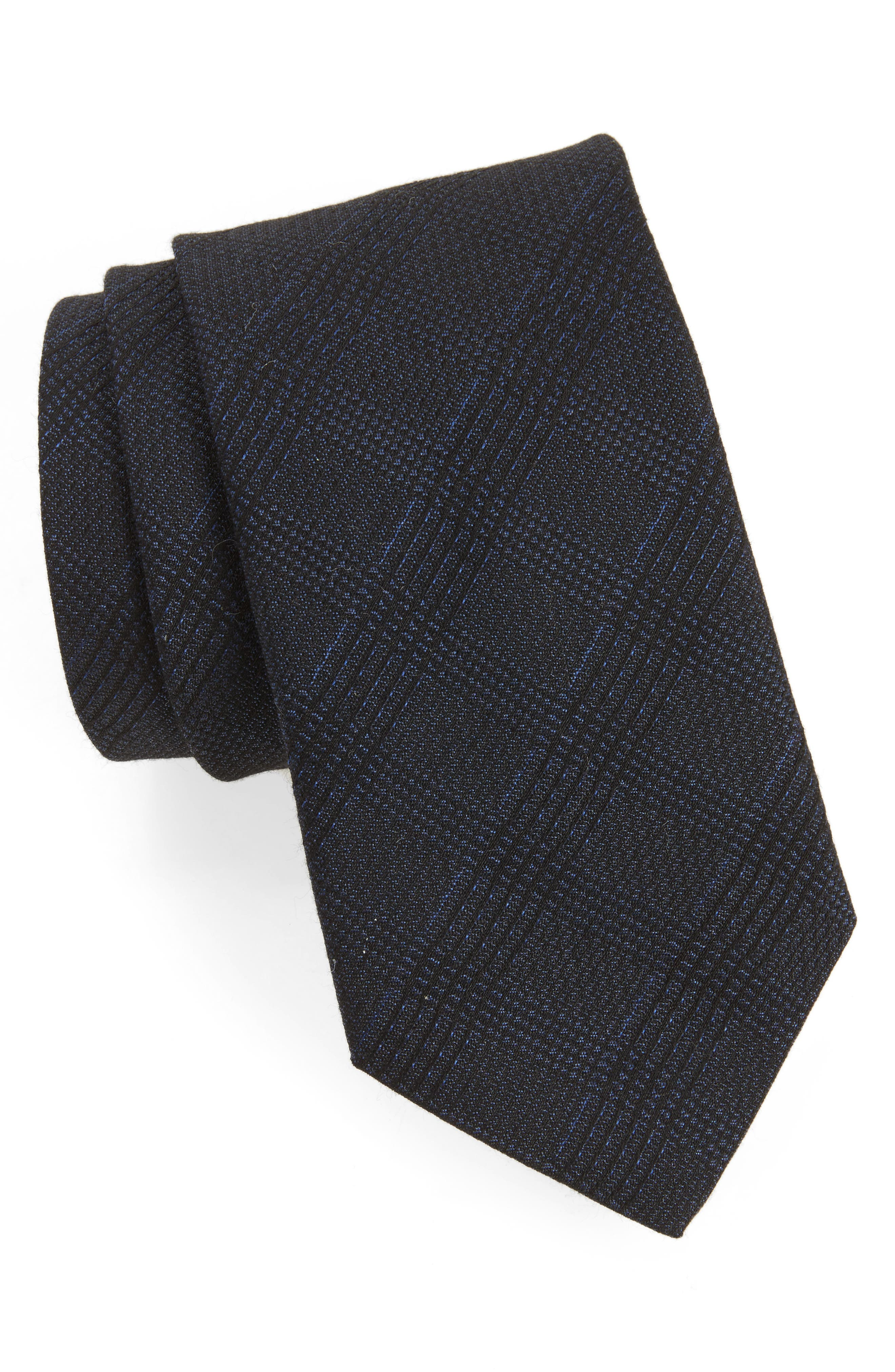 John Varvatos Star USA Check Weave Tie