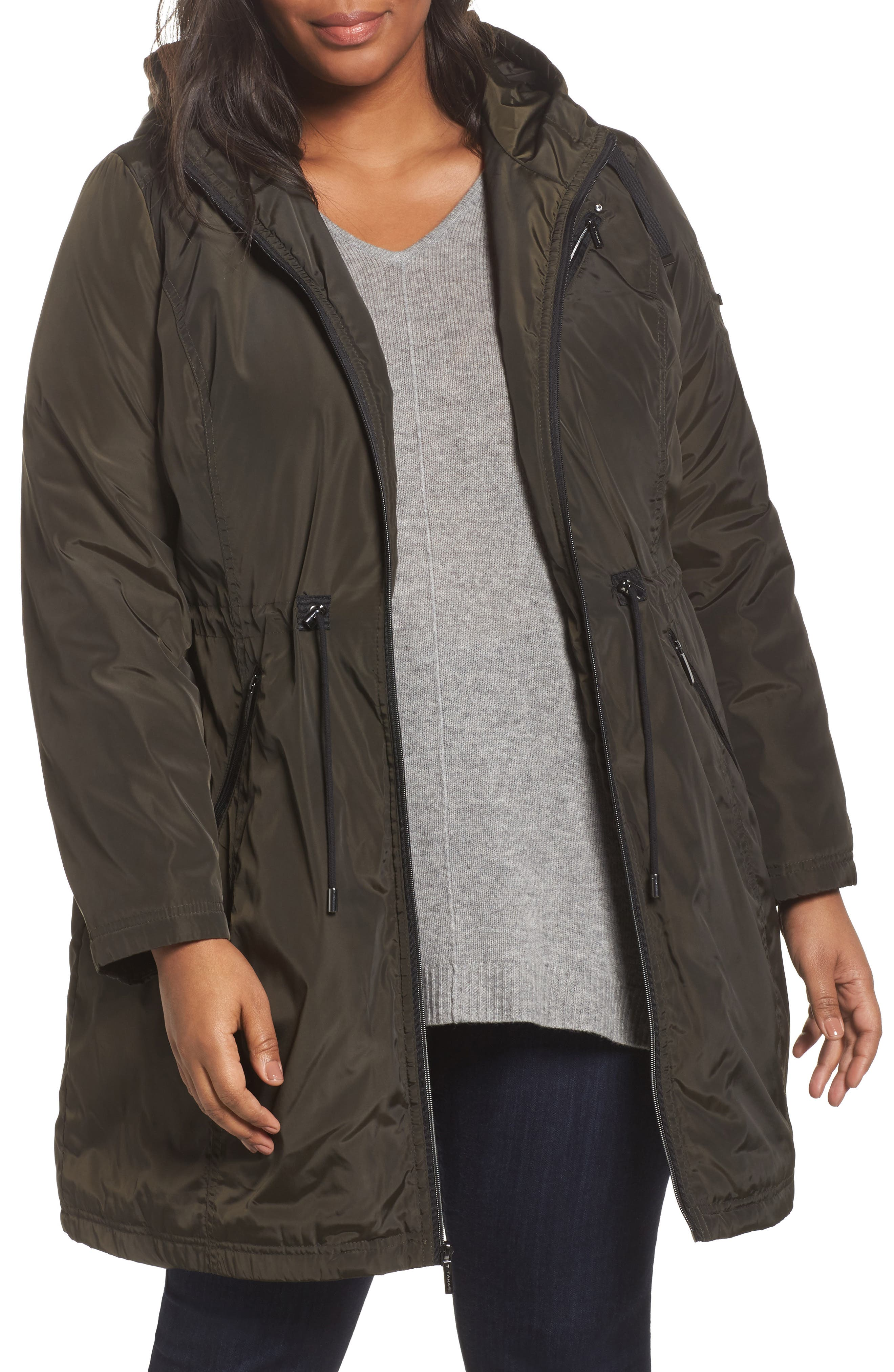 Tiffany Raincoat,                             Main thumbnail 1, color,                             Olive