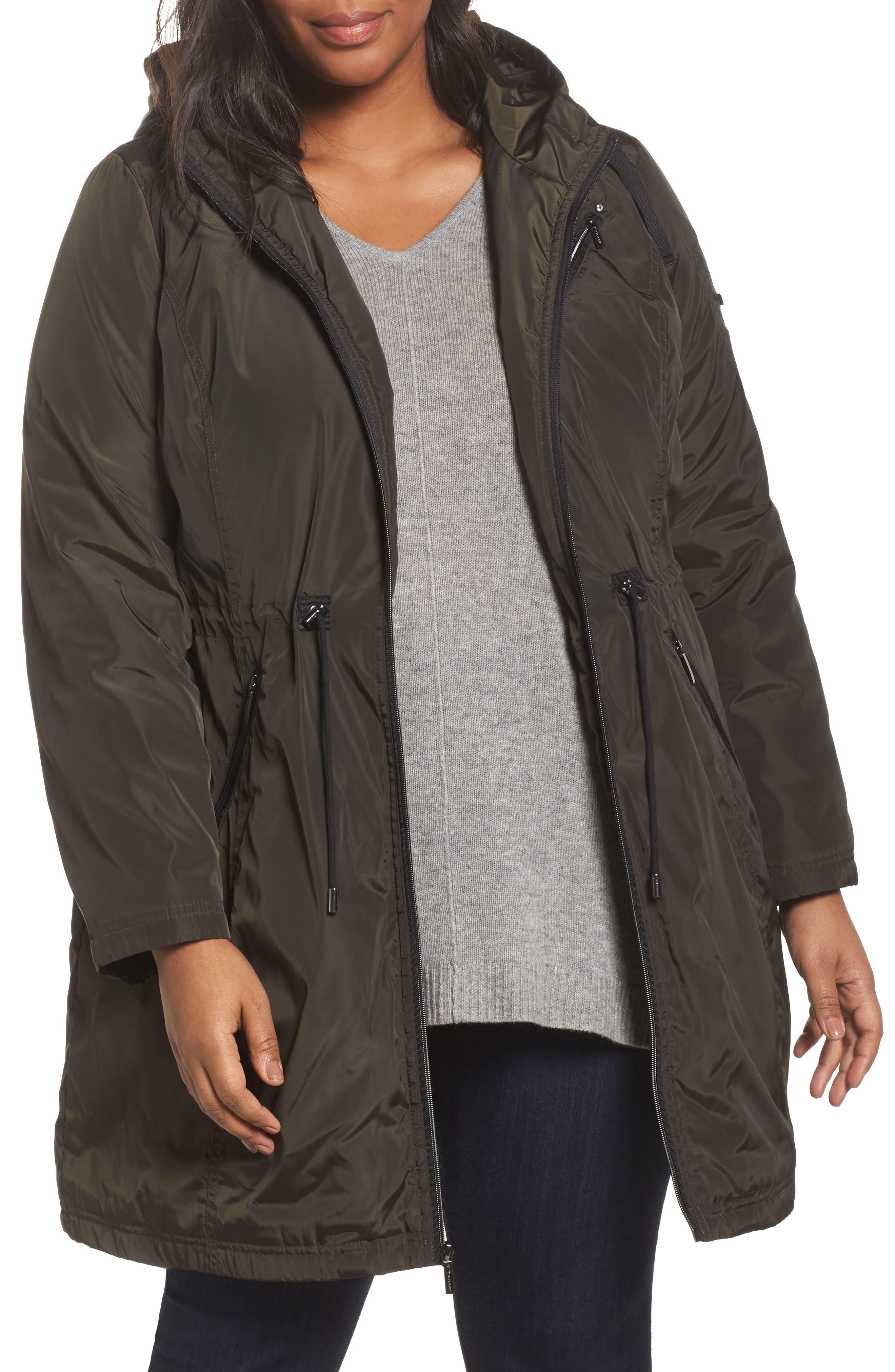 Tahari Tiffany Raincoat (Plus Size)