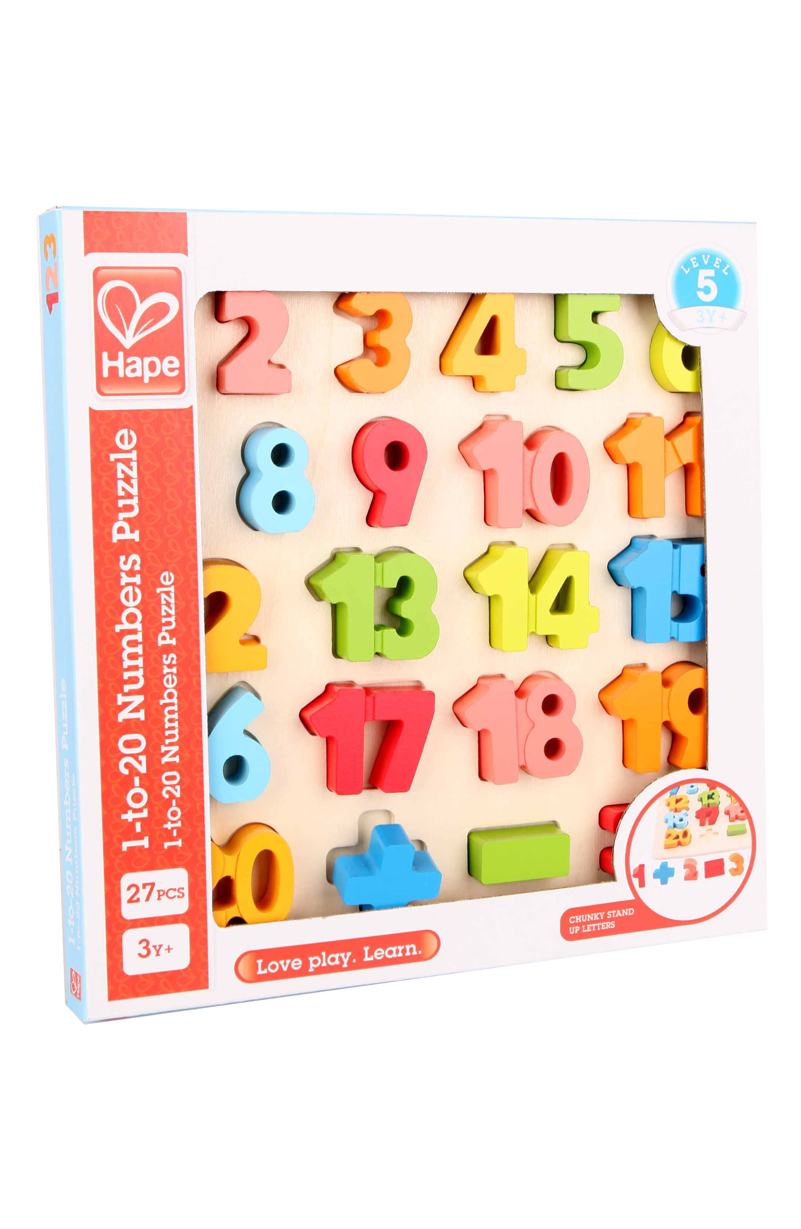 24-Piece Chunky Math Puzzle,                         Main,                         color, Green