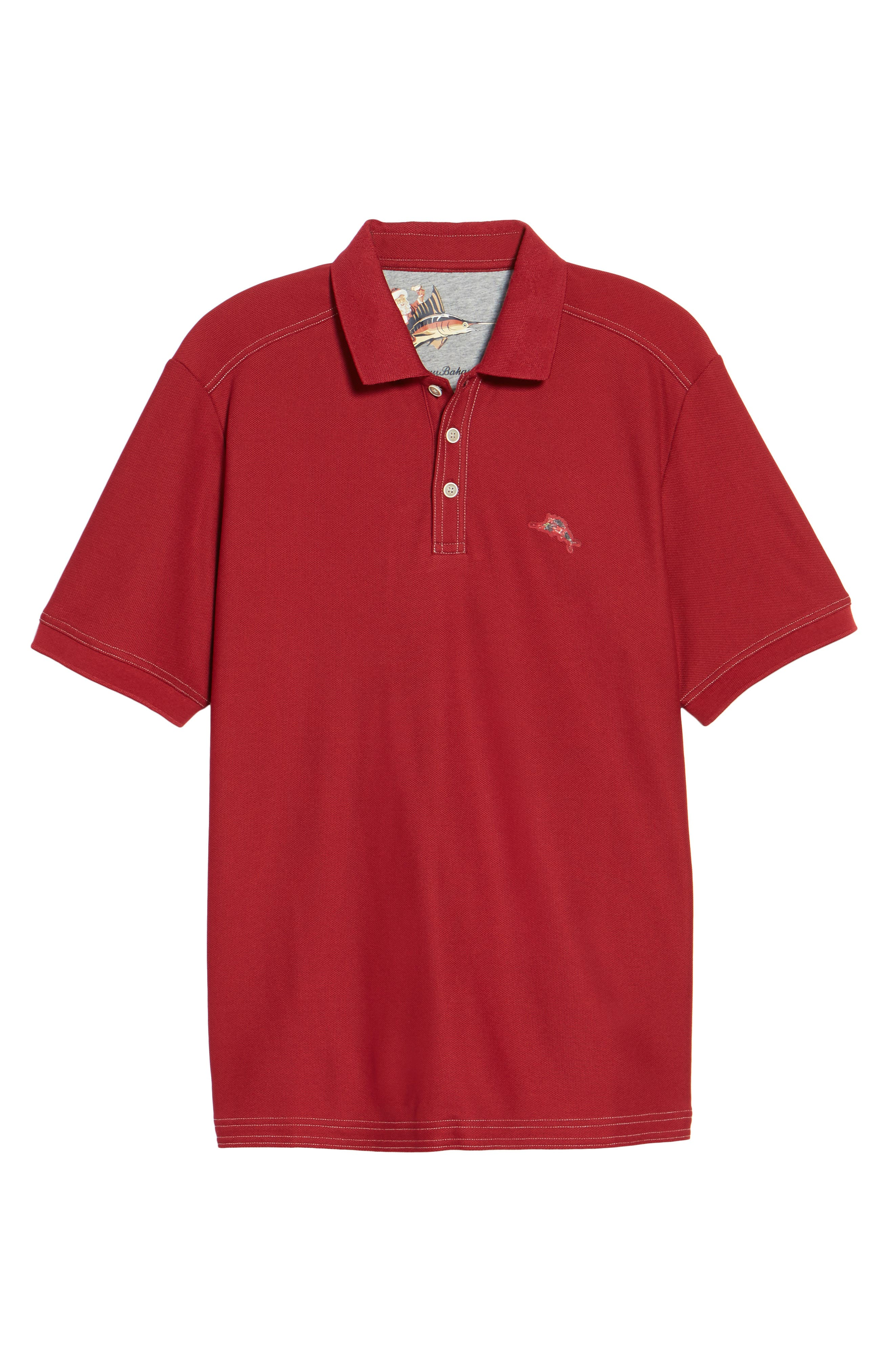 Alternate Image 6  - Tommy Bahama Limited Edition Poinsettia Emfielder Piqué Polo
