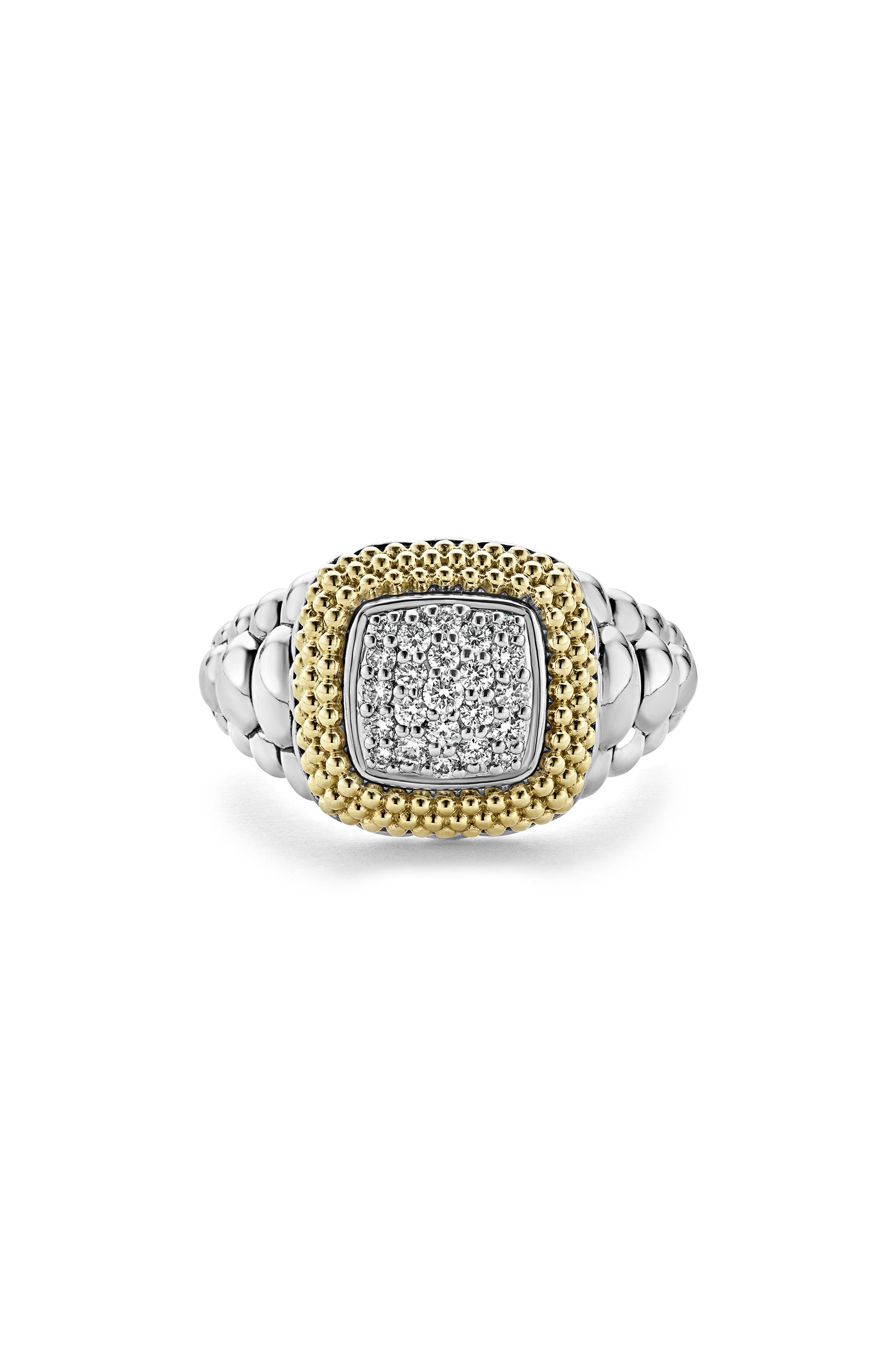 Diamond Lux Square Ring,                             Alternate thumbnail 4, color,                             Diamond