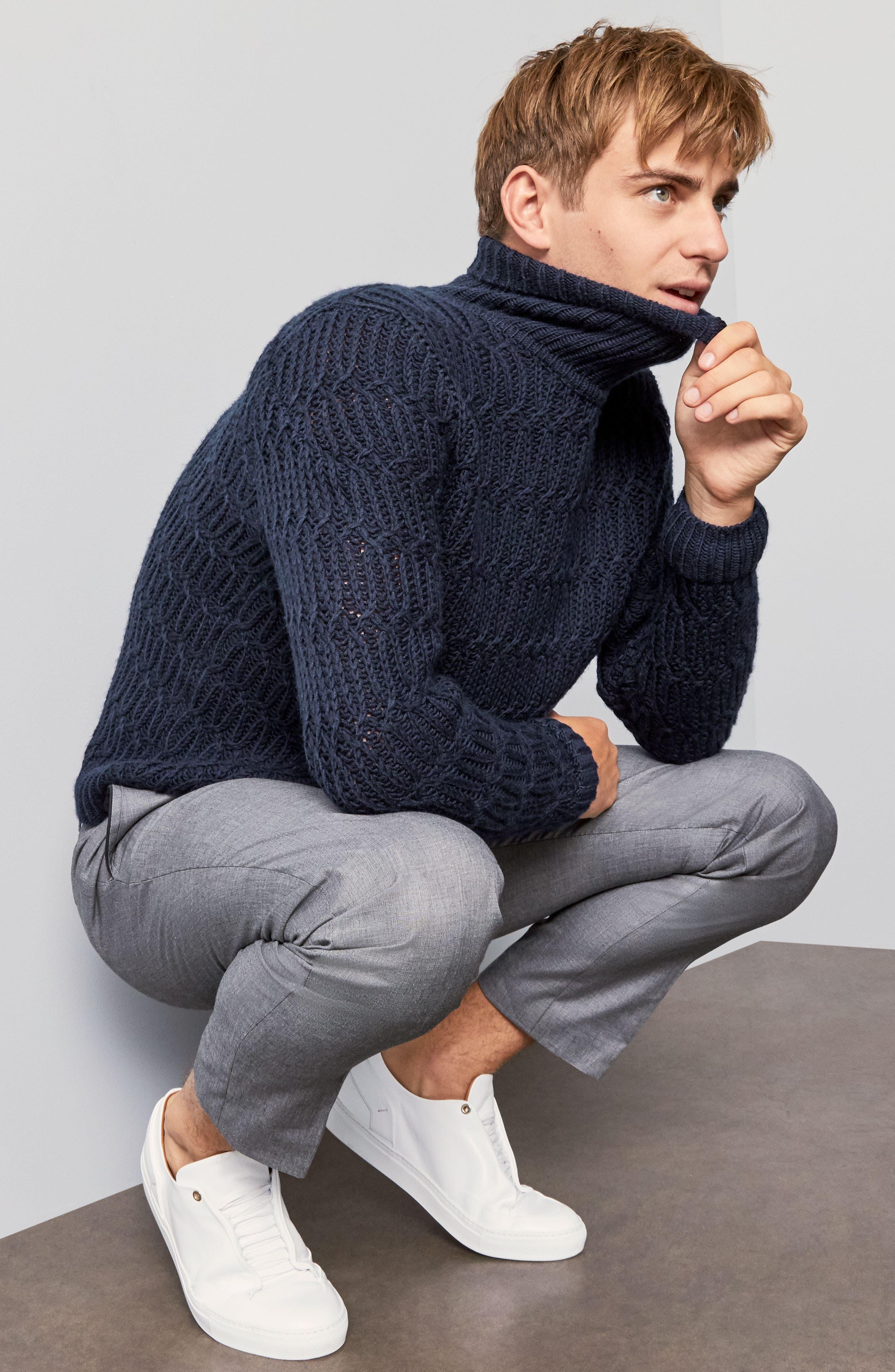 Chunky Turtleneck Sweater,                             Alternate thumbnail 2, color,