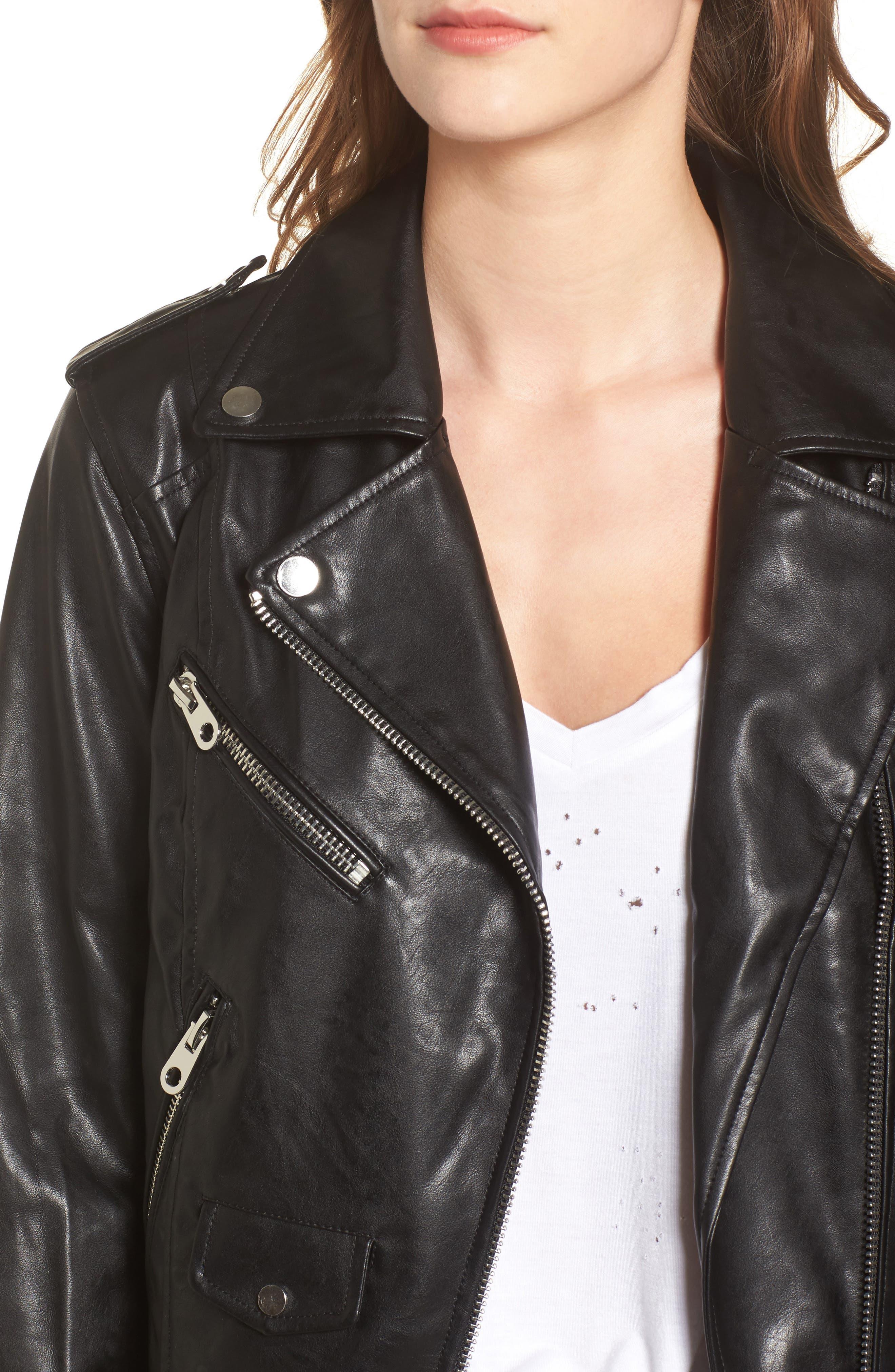 Alternate Image 4  - Vigoss Faux Leather Moto Jacket