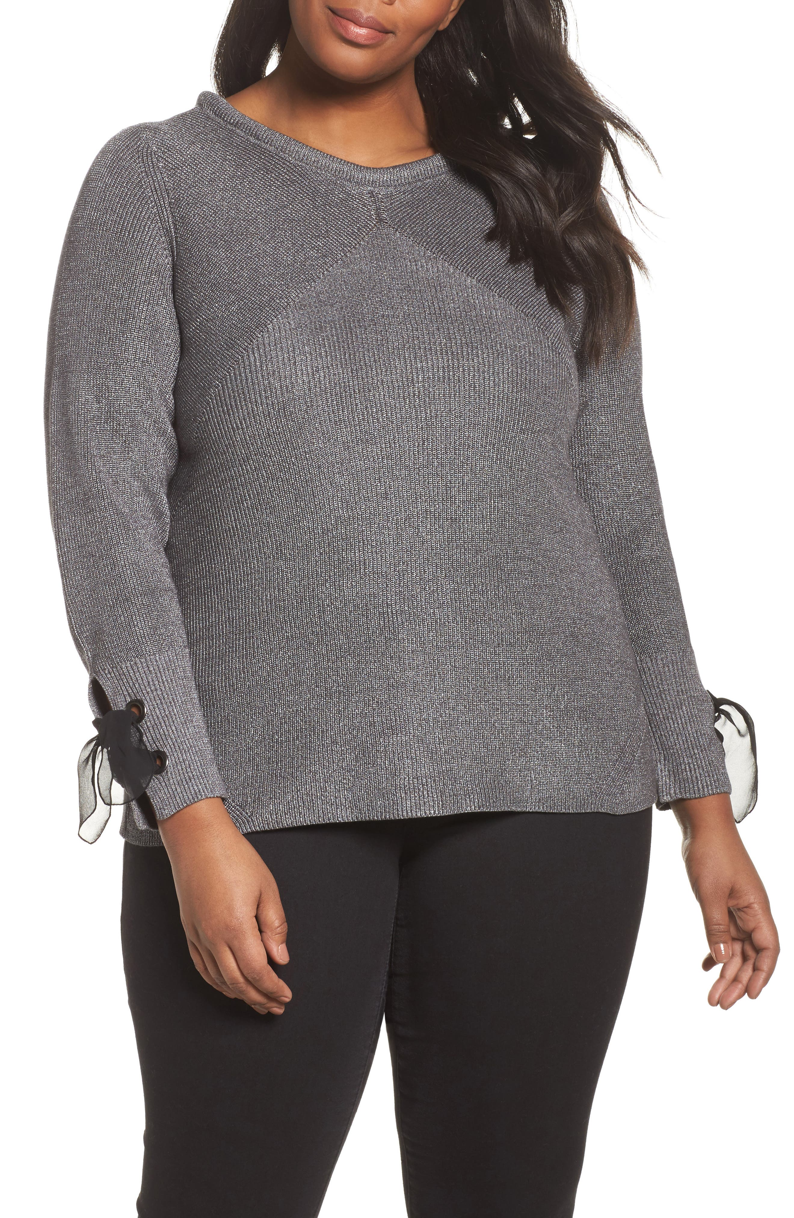 Alternate Image 1 Selected - NIC+ZOE Metallic Muse Top (Plus Size)