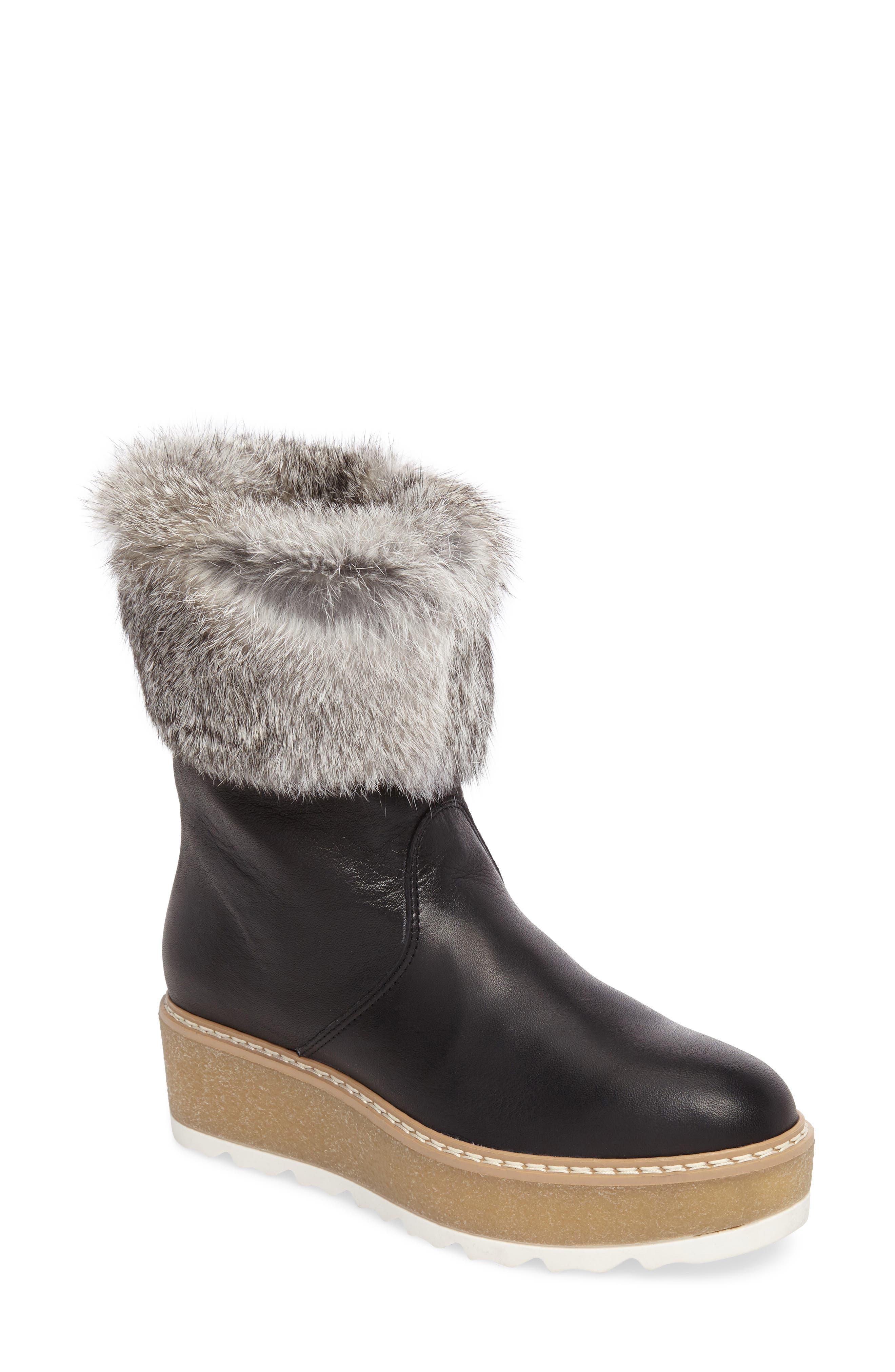 Rudsak Treasure Genuine Rabbit Fur Trim Winter Boot (Women)