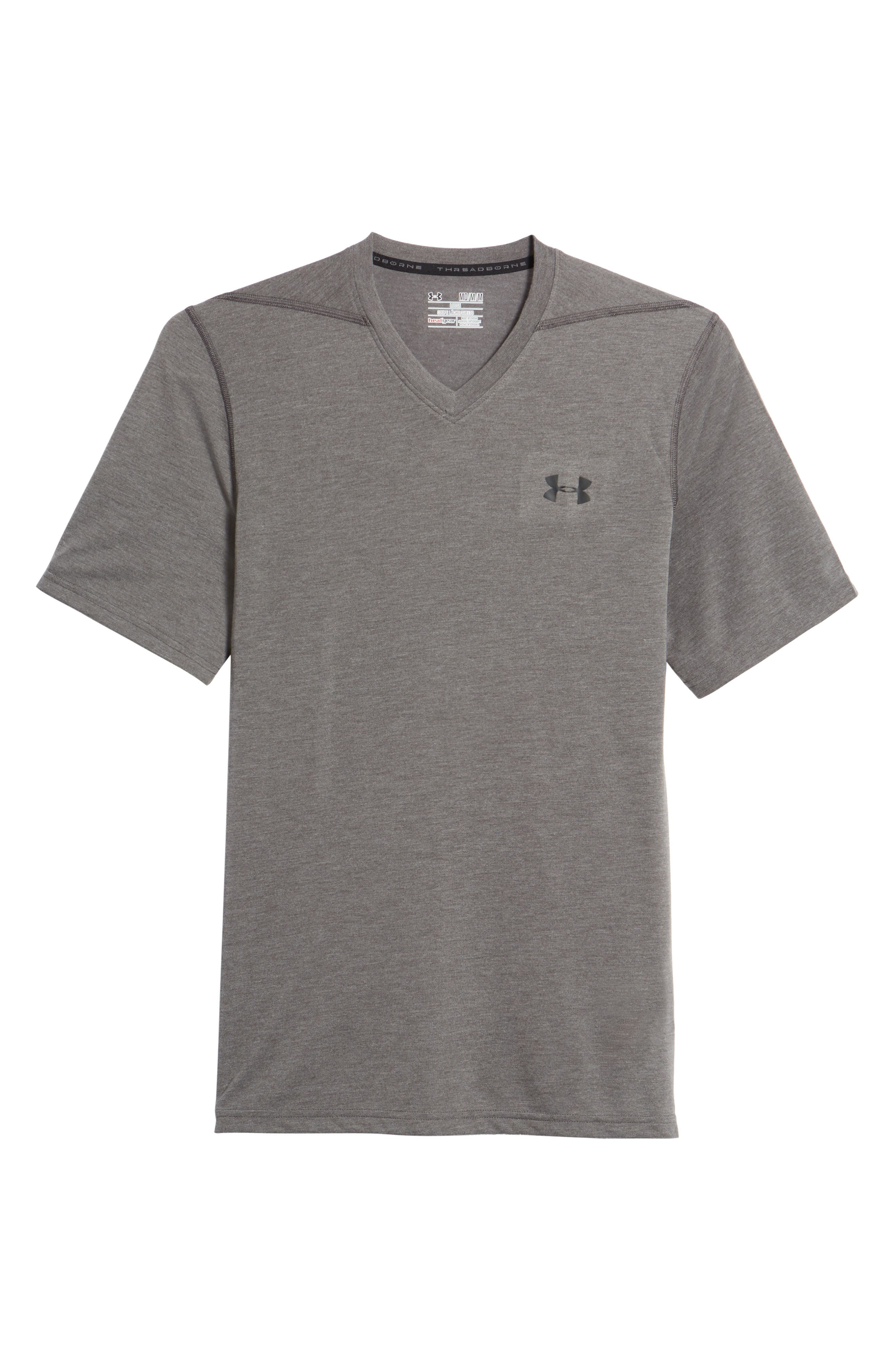Regular Fit Threadborne T-Shirt,                             Main thumbnail 1, color,                             Carbon Heather