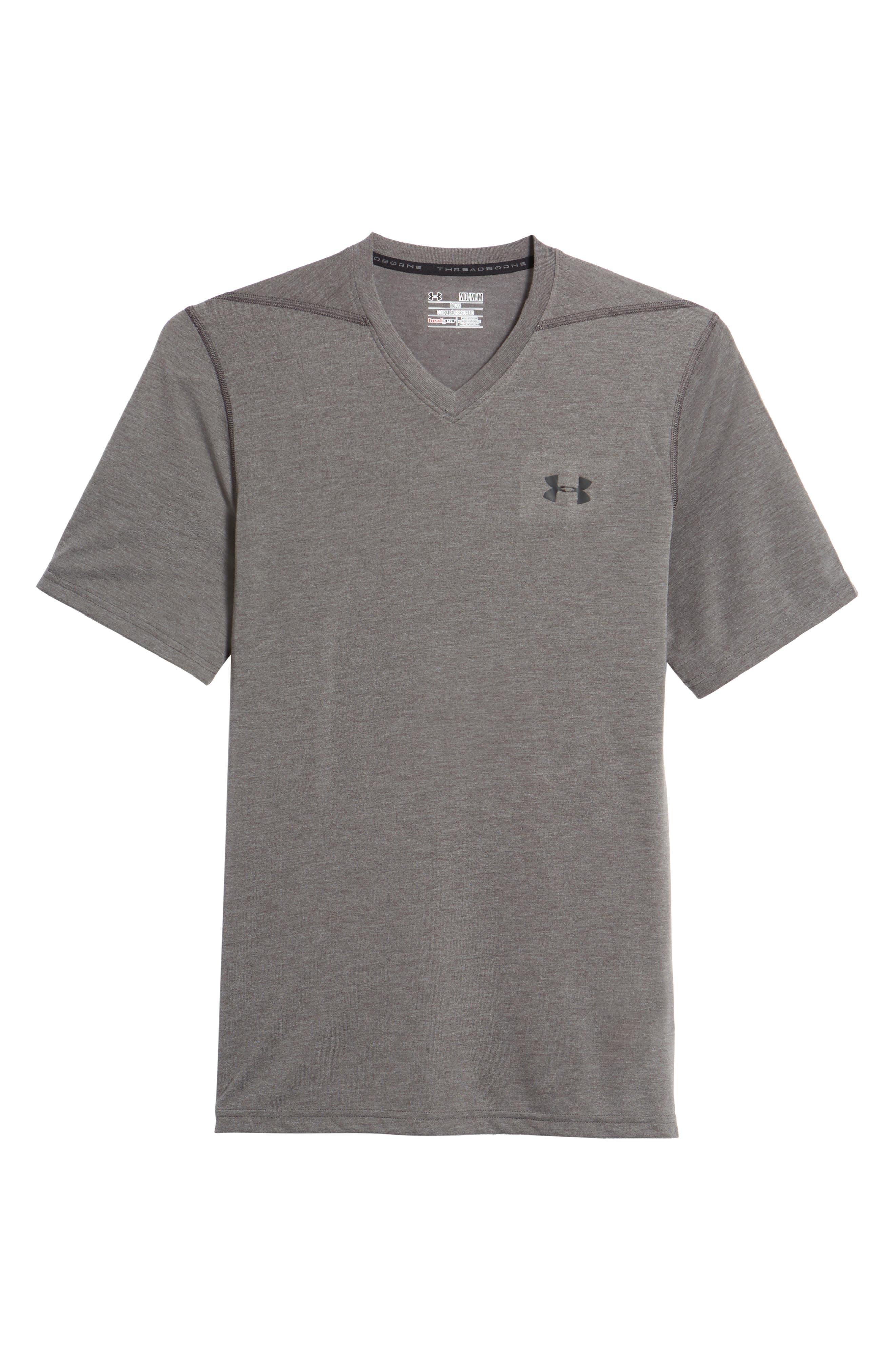 Regular Fit Threadborne T-Shirt,                         Main,                         color, Carbon Heather