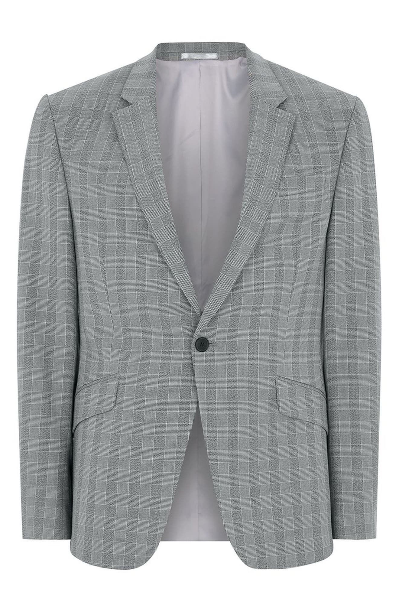 Alternate Image 6  - Topman Muscle Fit Check Suit Jacket