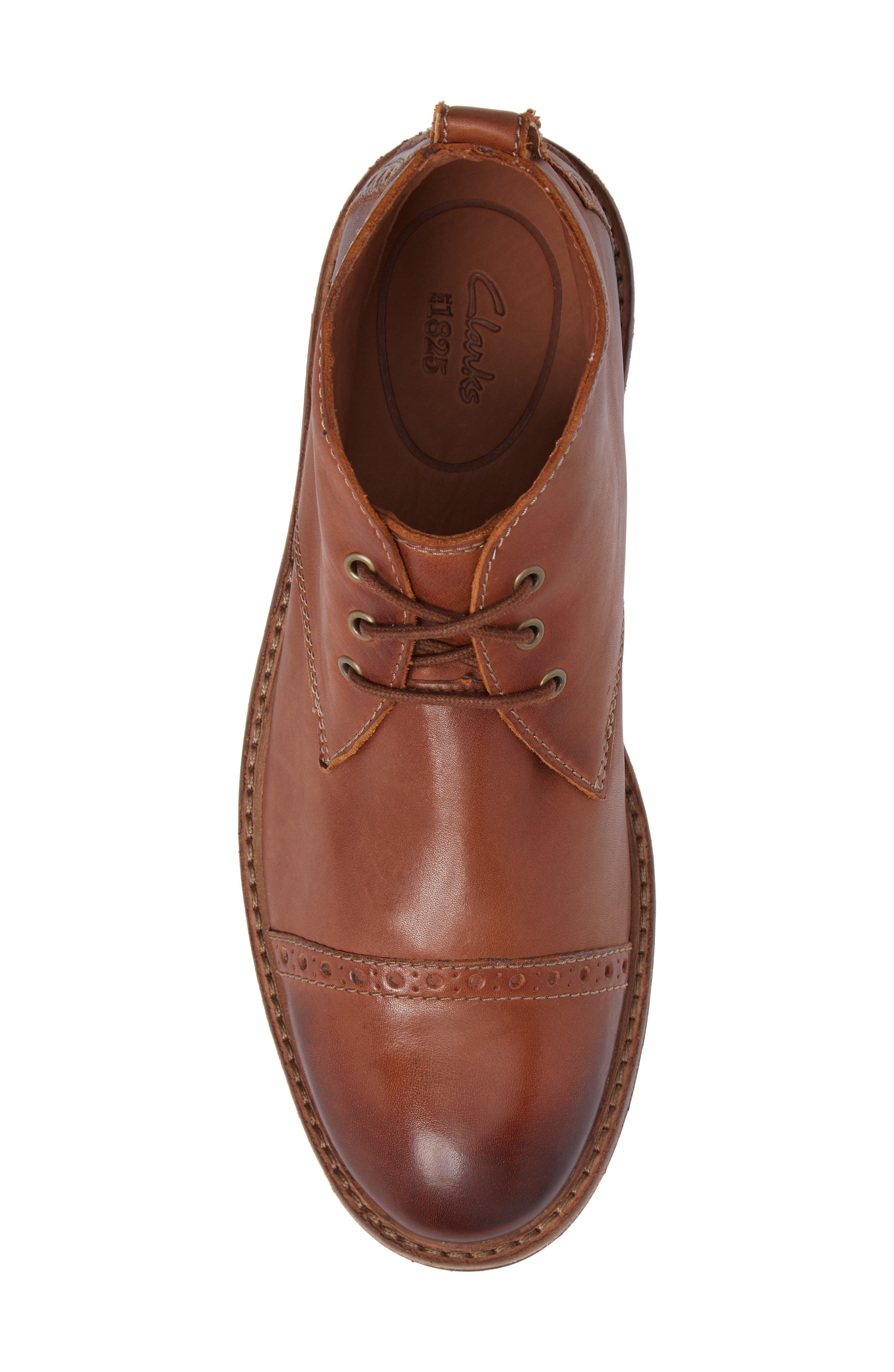 Clarkdale Water Resistant Chukka Boot,                             Alternate thumbnail 5, color,                             Dark Tan Leather