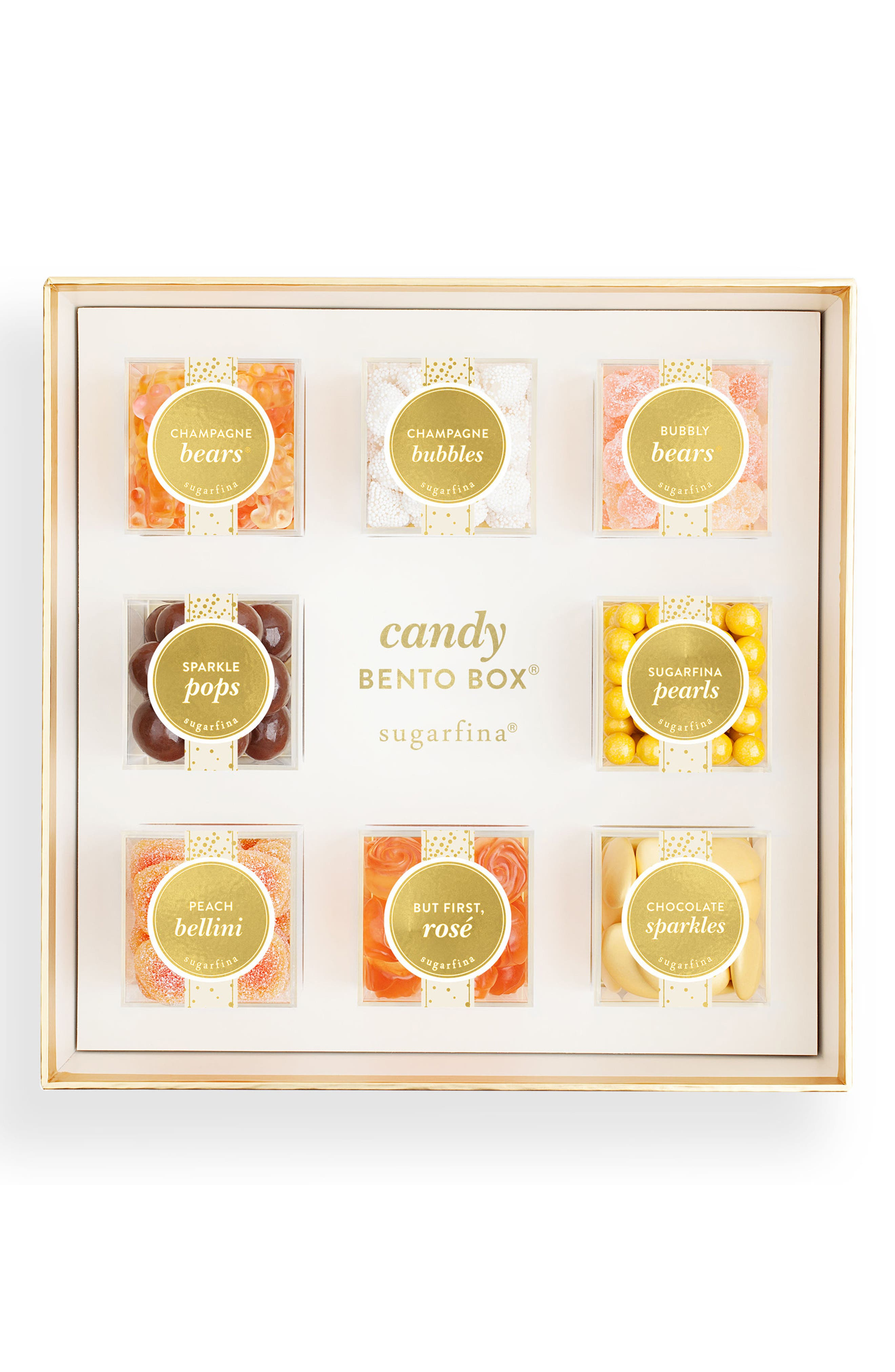 Sparkling 8-Piece Candy Bento Box,                             Main thumbnail 1, color,                             Beige