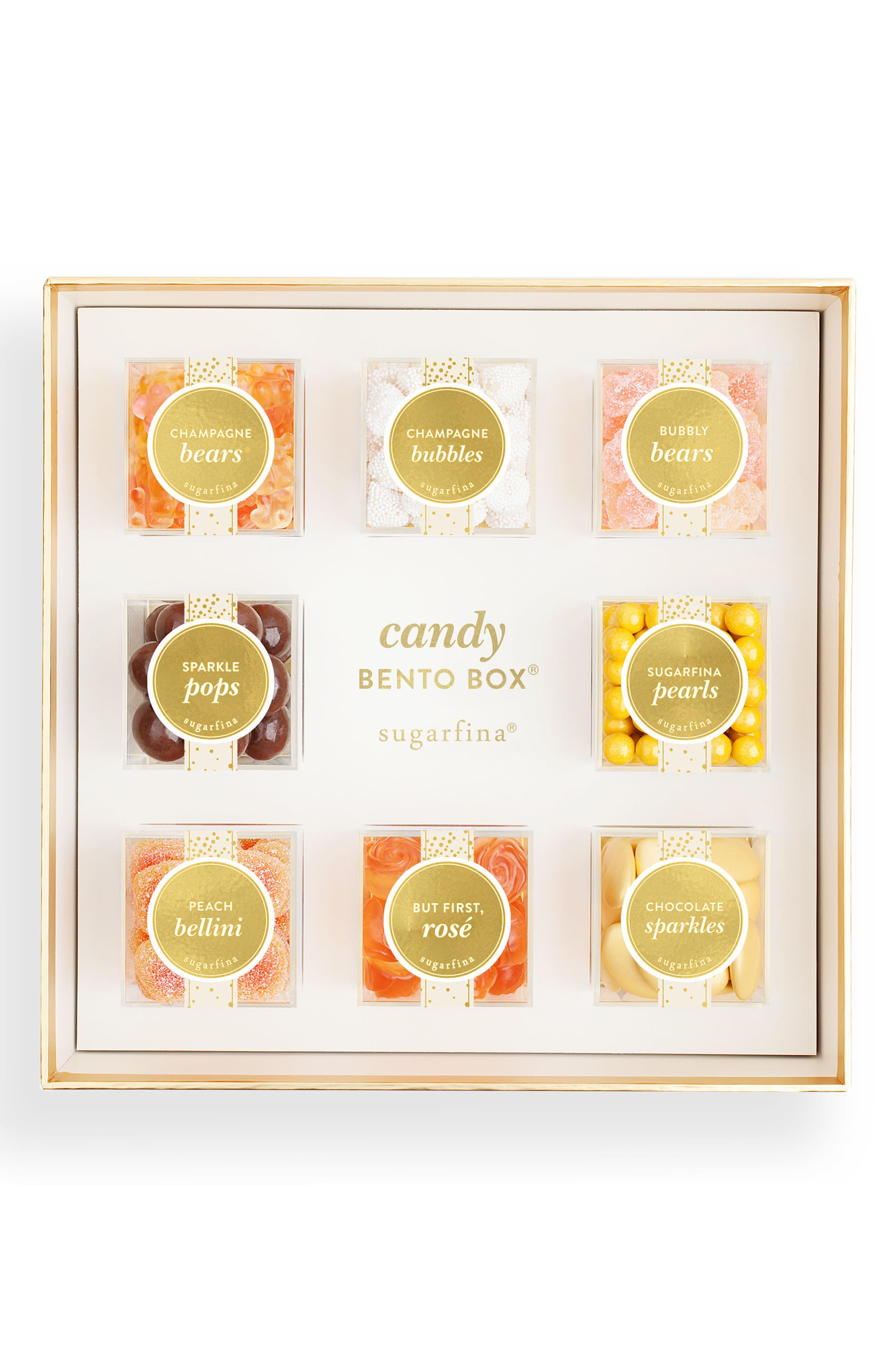 Sparkling 8-Piece Candy Bento Box,                         Main,                         color, Beige