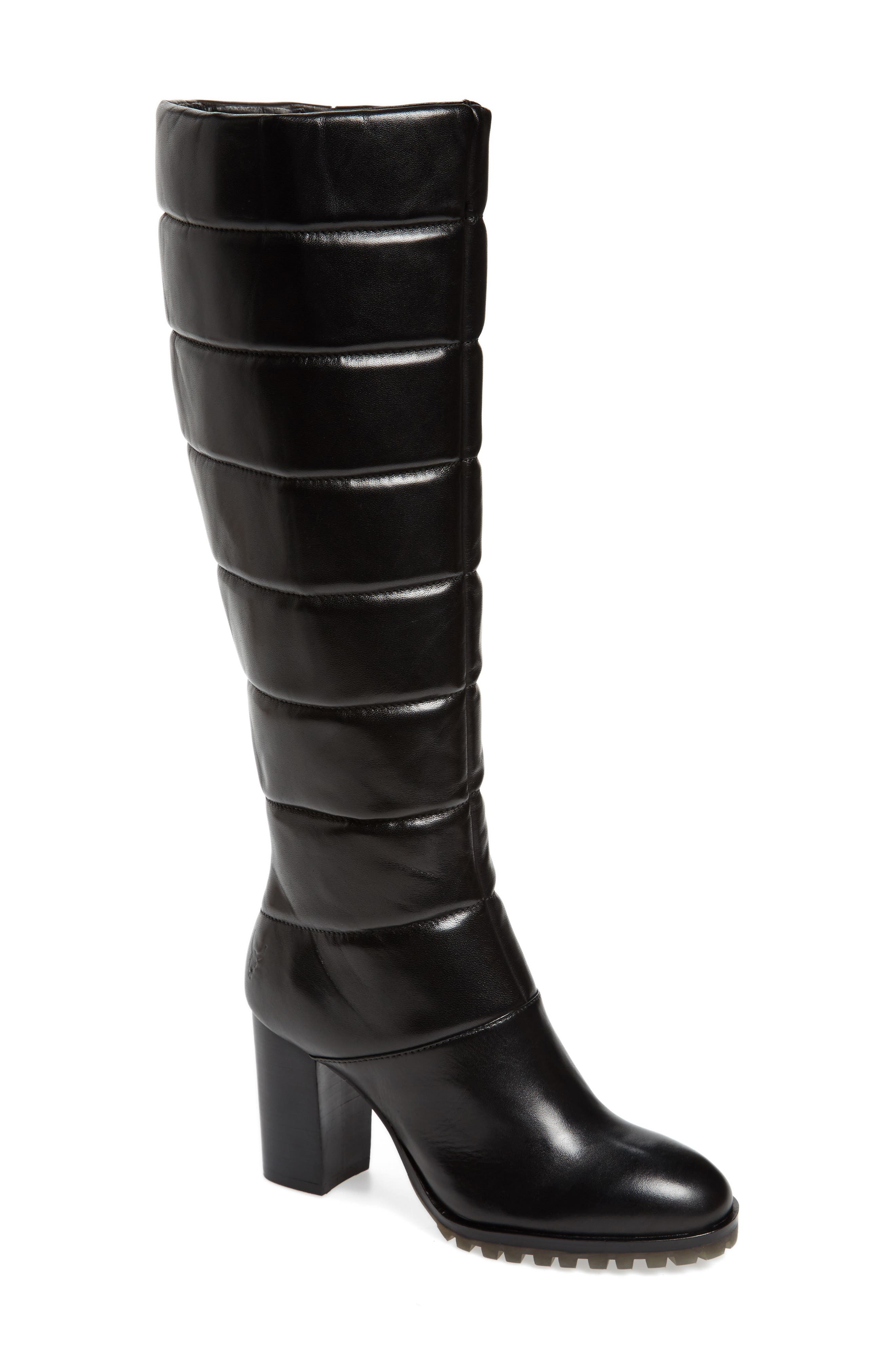 Tropia Knee High Boot,                         Main,                         color, Black Leather