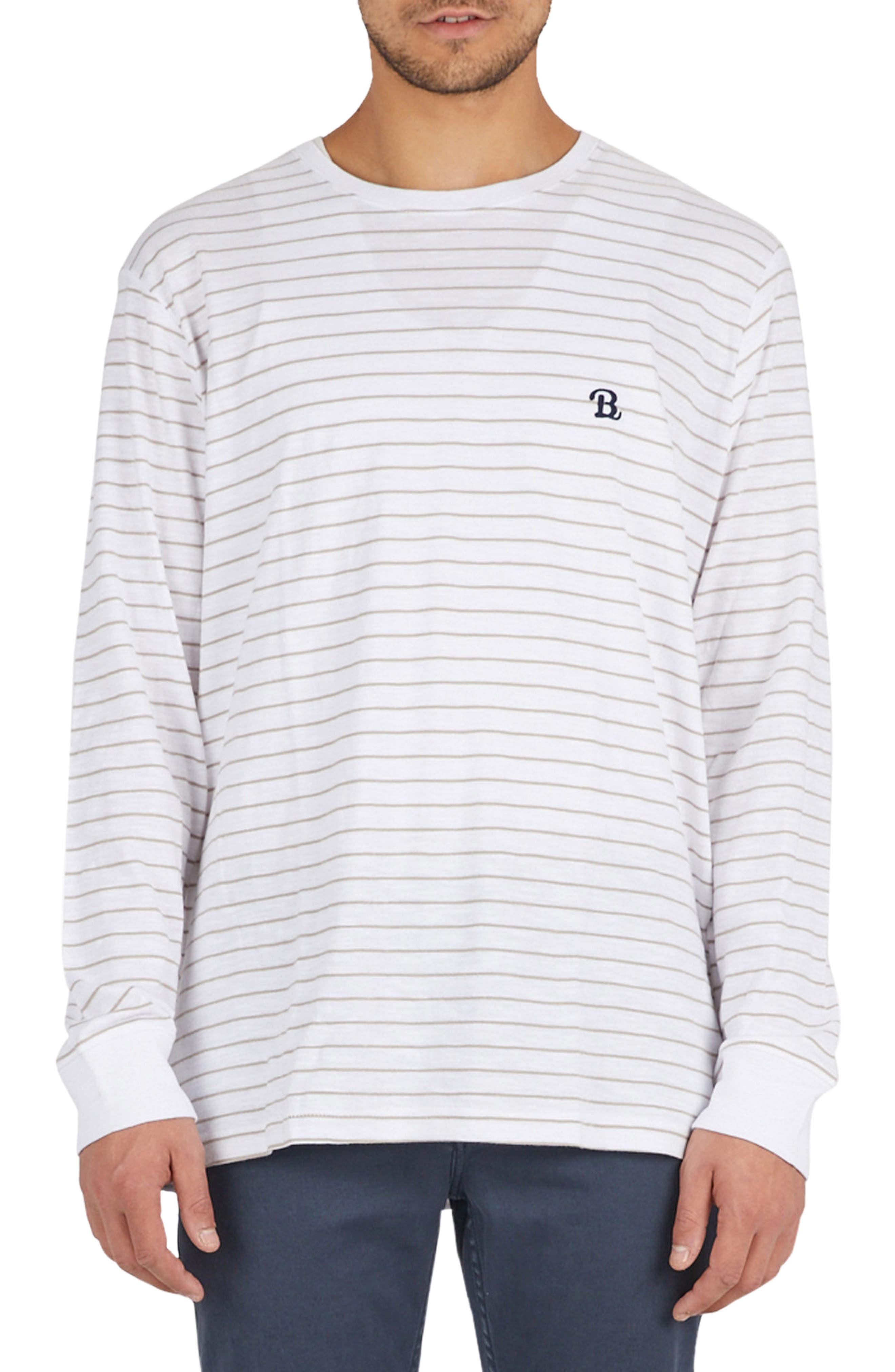 B. Schooled T-Shirt,                             Main thumbnail 1, color,                             Beige Stripe