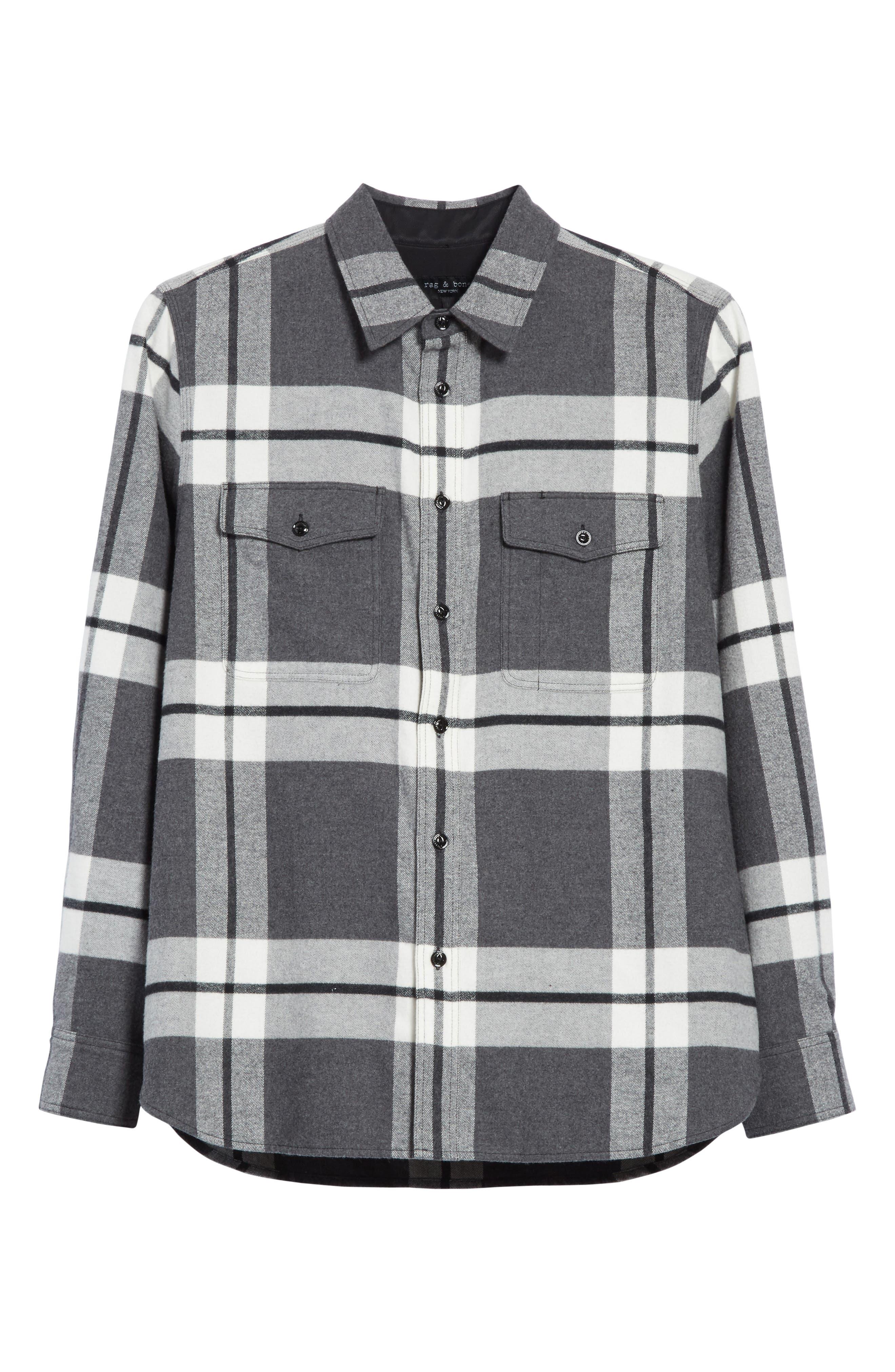 Alternate Image 6  - rag & bbone Jack Plaid Shirt Jacket