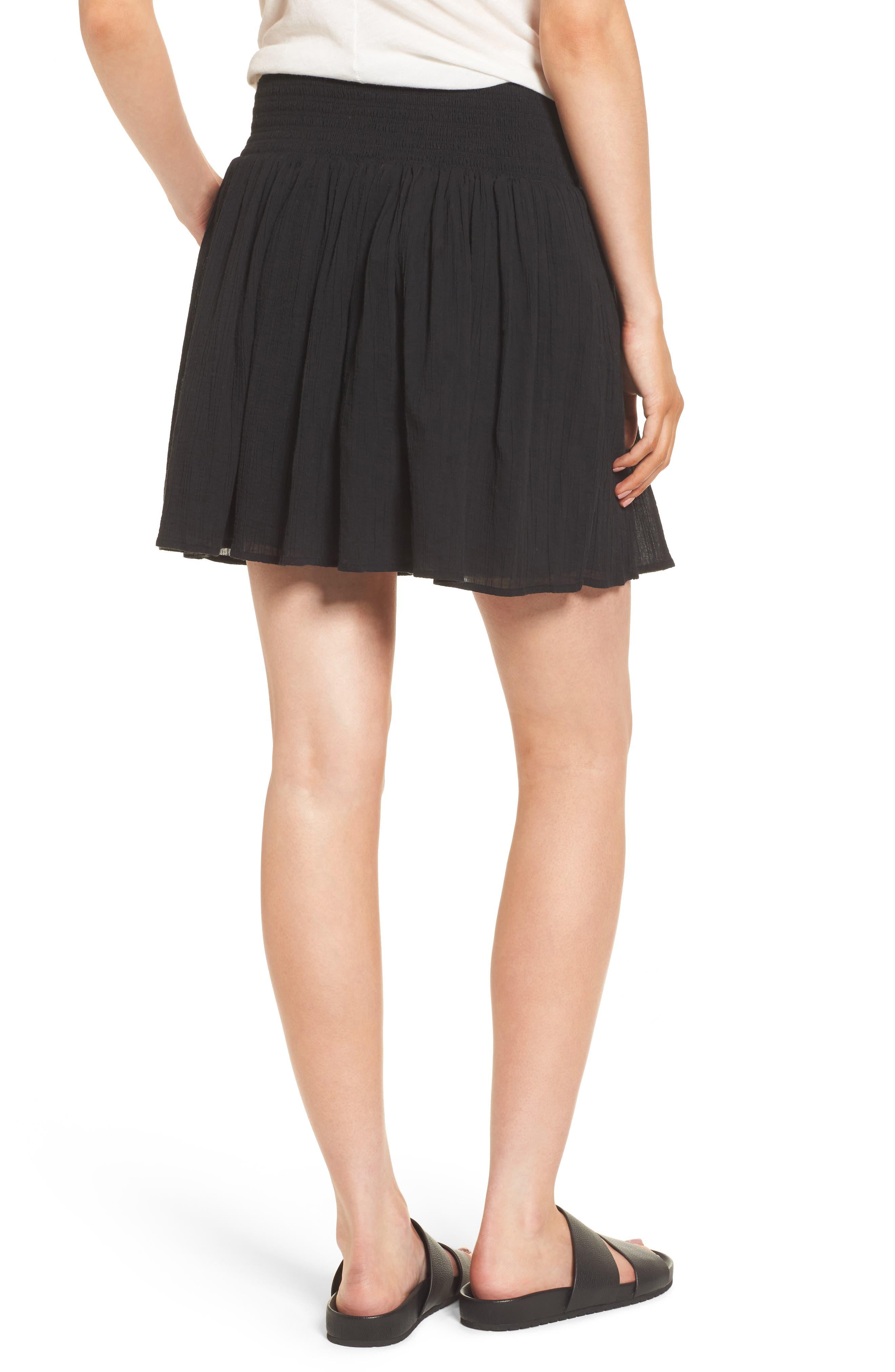 Alternate Image 2  - James Perse Smocked Cotton Skirt