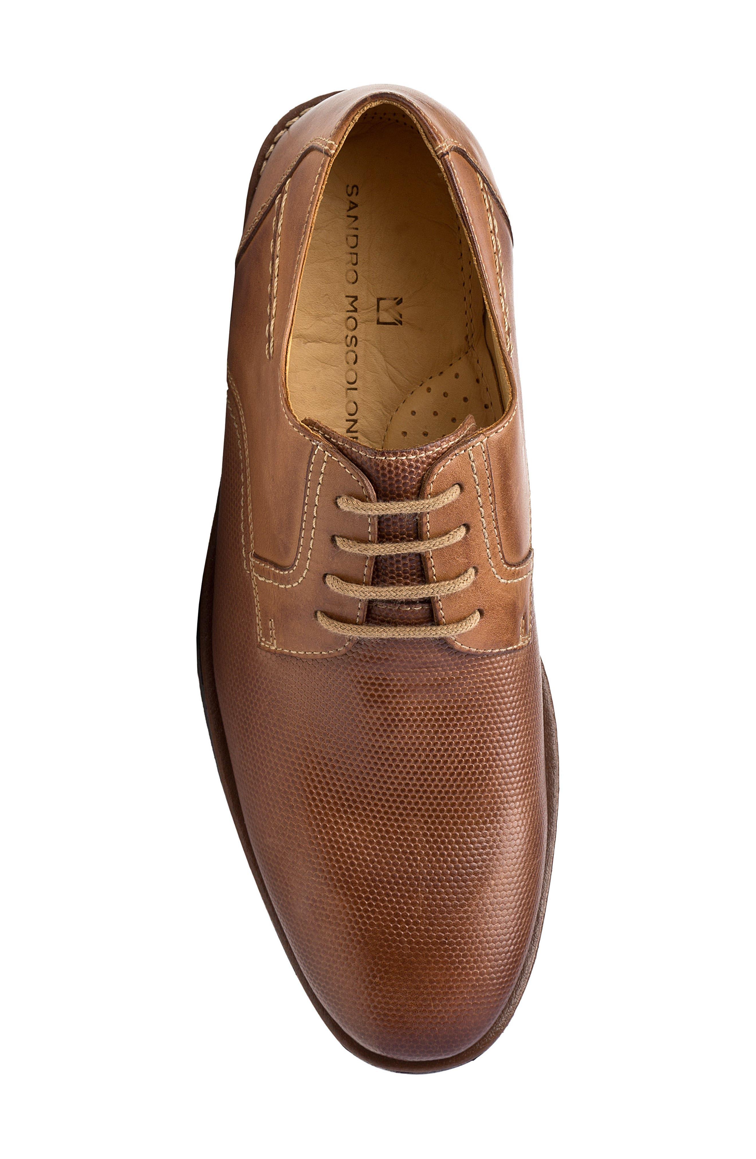 Trenso Plain Toe Derby,                             Alternate thumbnail 4, color,                             Tan Leather