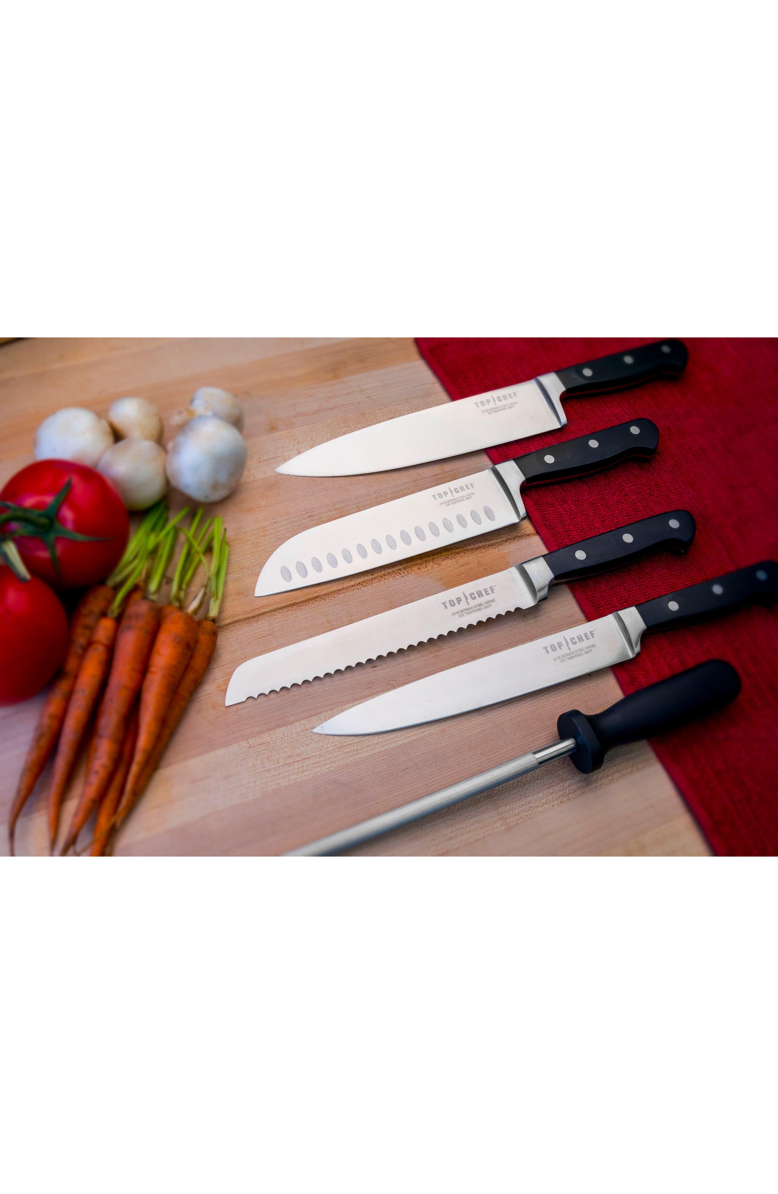 Premier 9-Piece Knife Block Set,                             Alternate thumbnail 3, color,                             Black