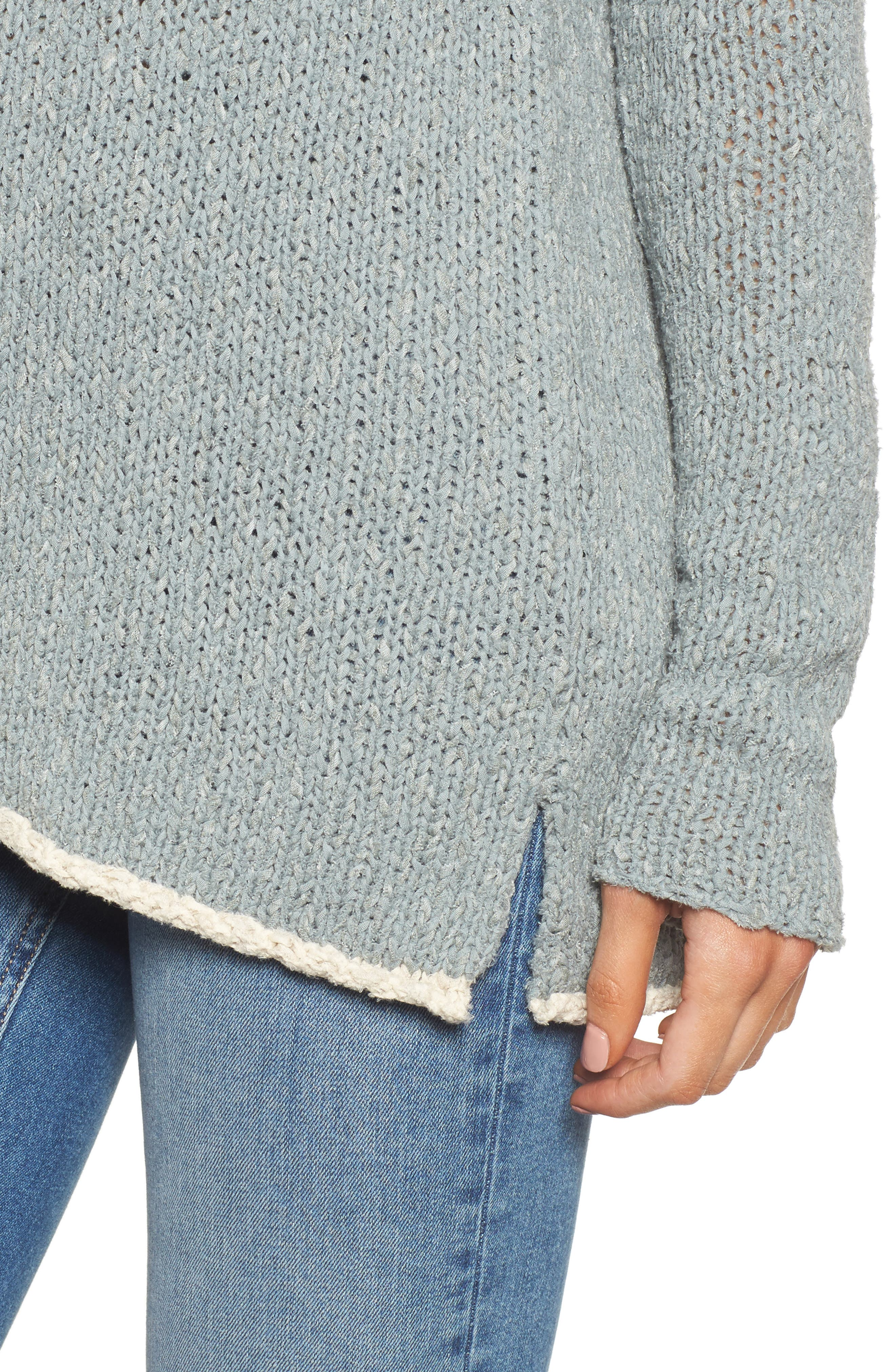 Oversize Sweater,                             Alternate thumbnail 4, color,                             Dusty North