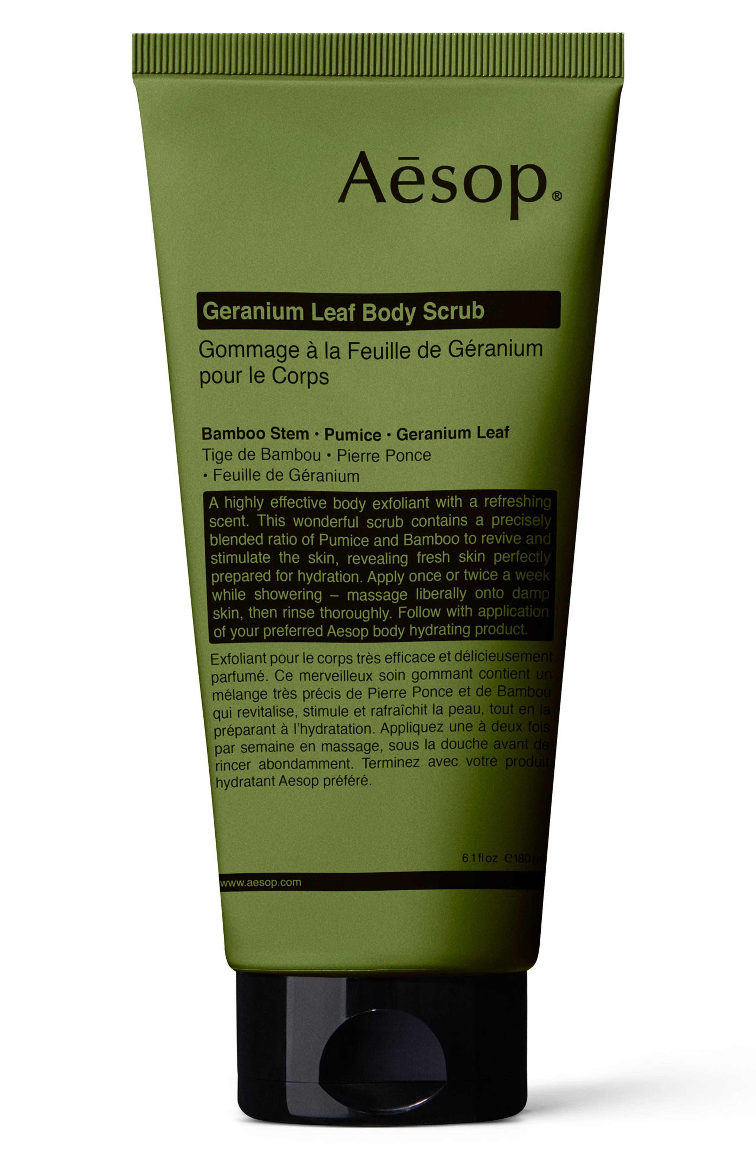 AESOP Geranium Leaf Body Scrub/6.1 Oz. in Green