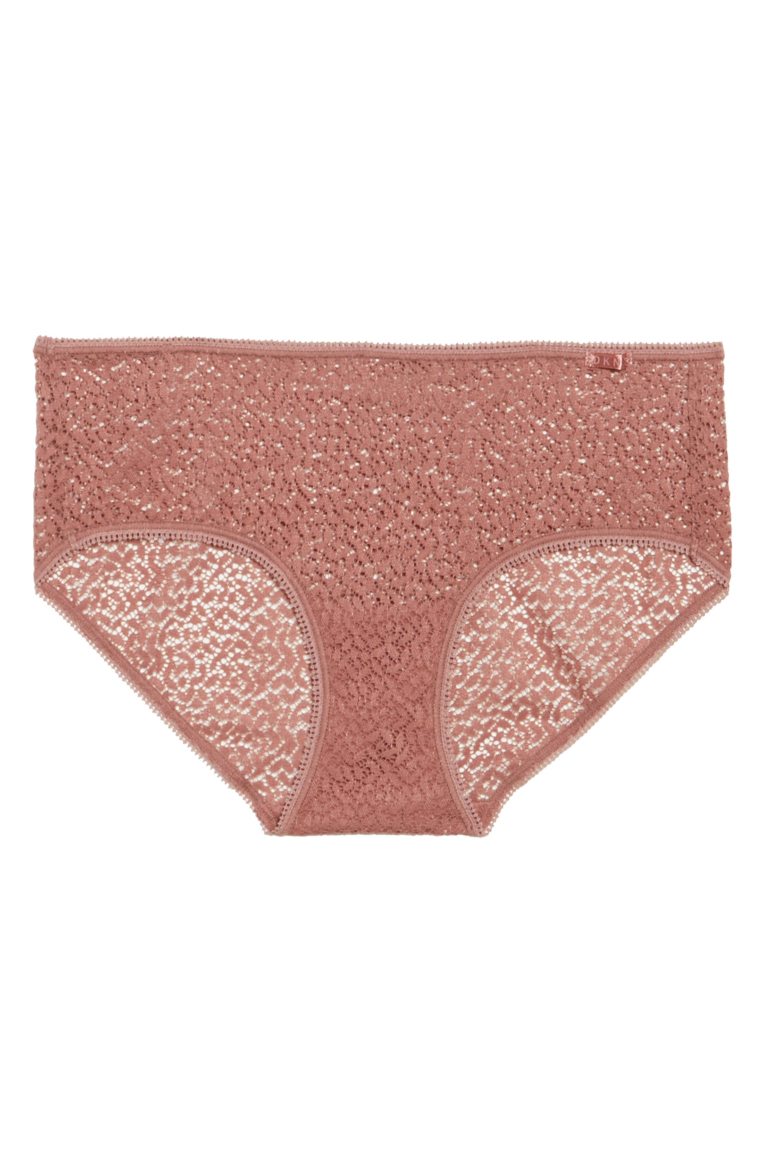 Modern Lace Hipster Panties,                             Alternate thumbnail 4, color,                             Rosewood 7Nq