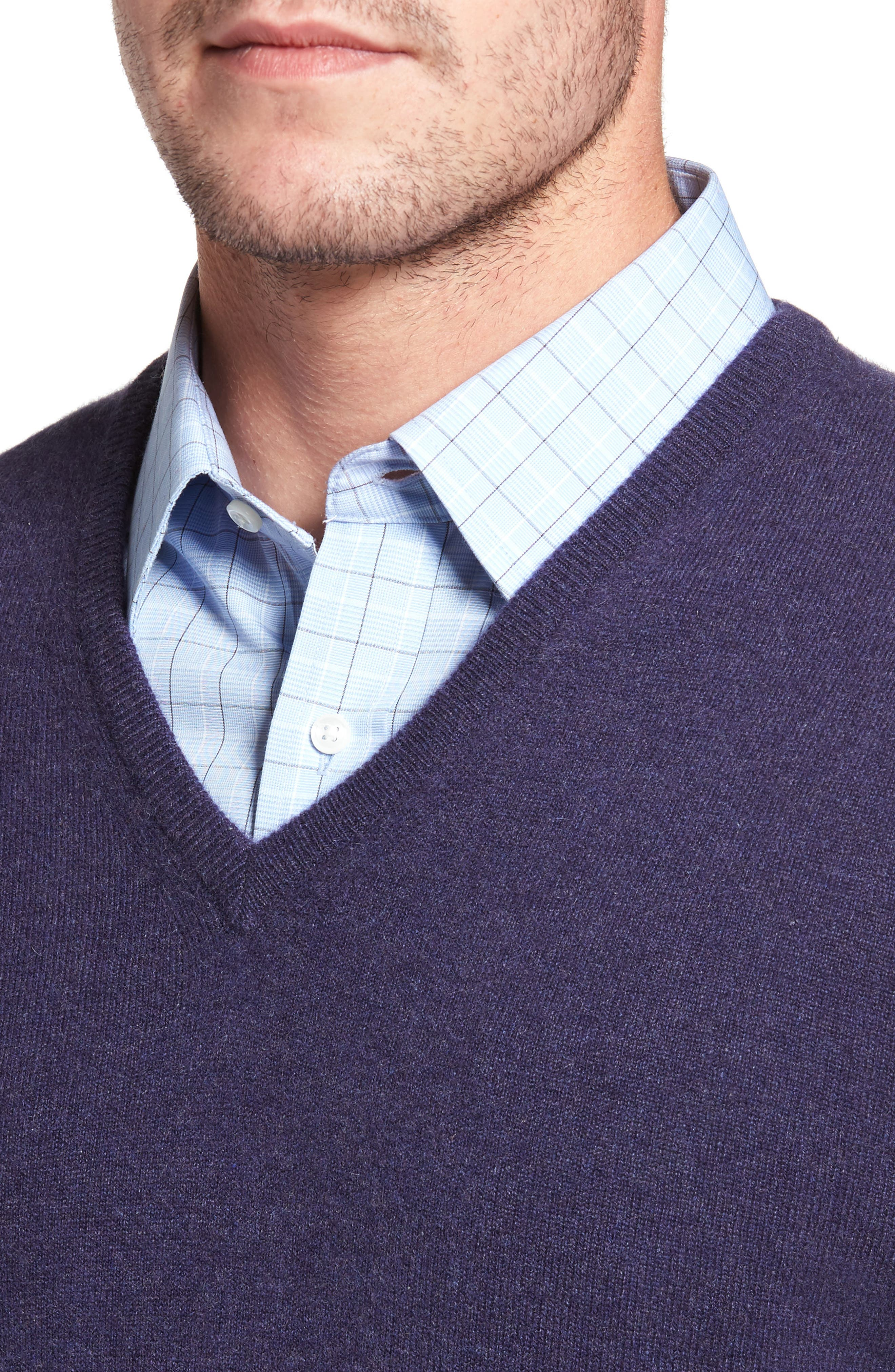 Alternate Image 4  - David Donahue Cashmere V-Neck Sweater