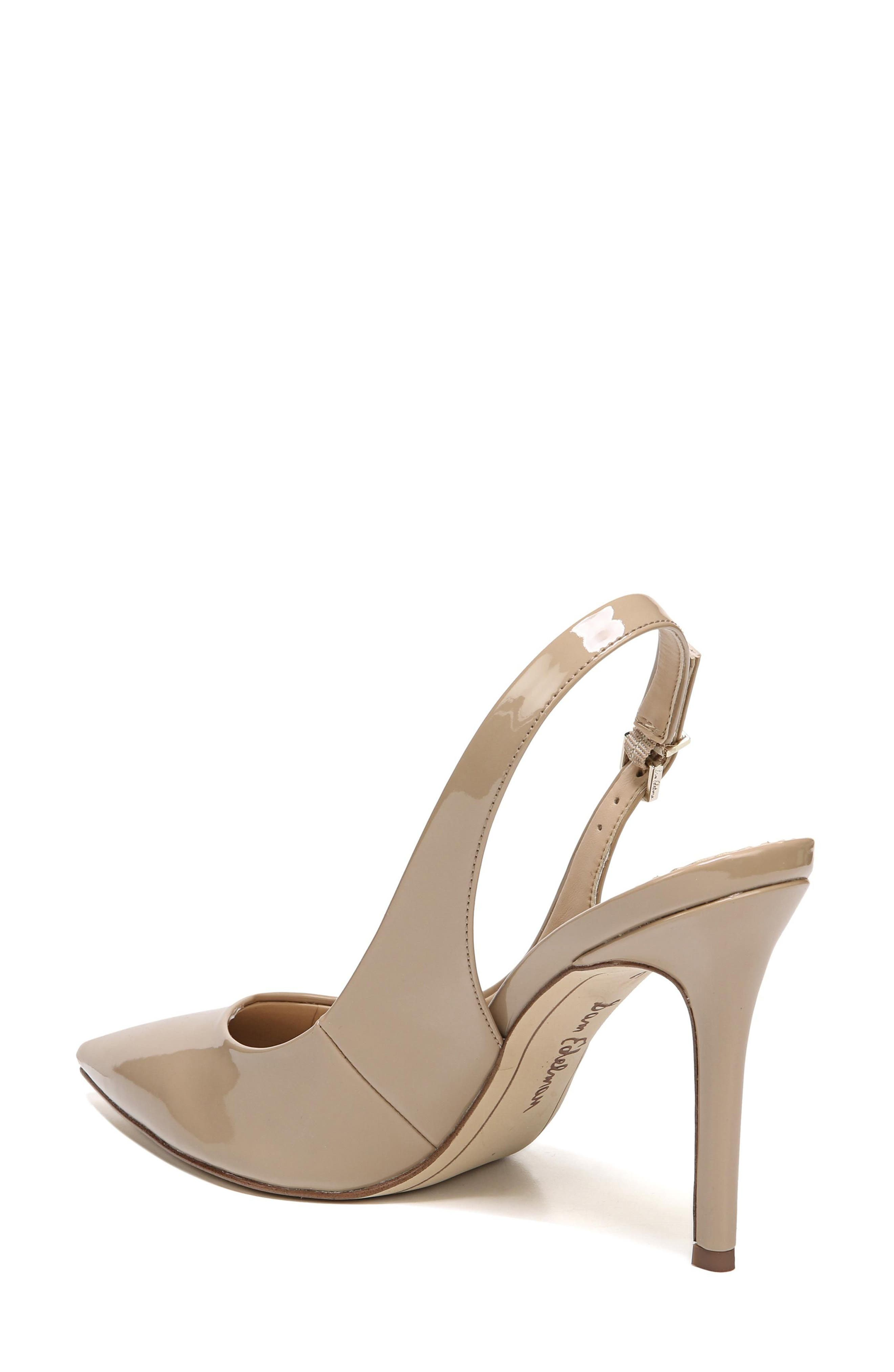 Hastings Slingback Pump,                             Alternate thumbnail 2, color,                             Classic Nude Patent Leather