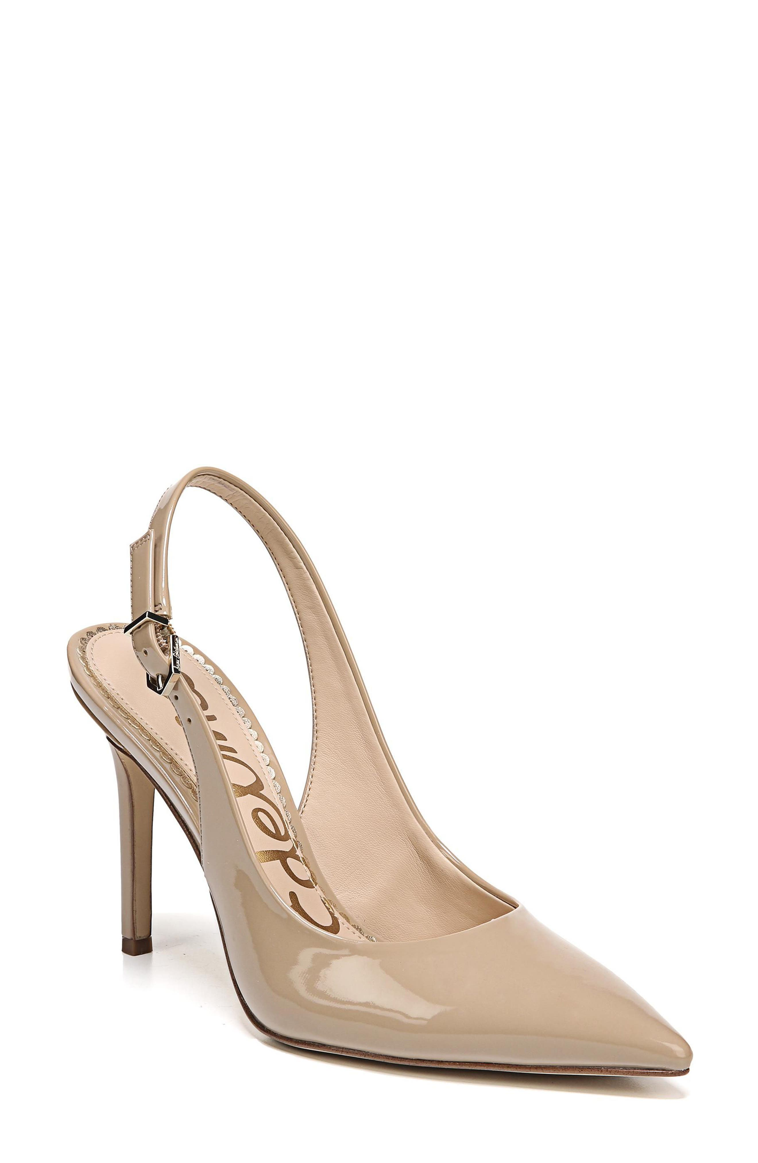 Hastings Slingback Pump,                             Main thumbnail 1, color,                             Classic Nude Patent Leather