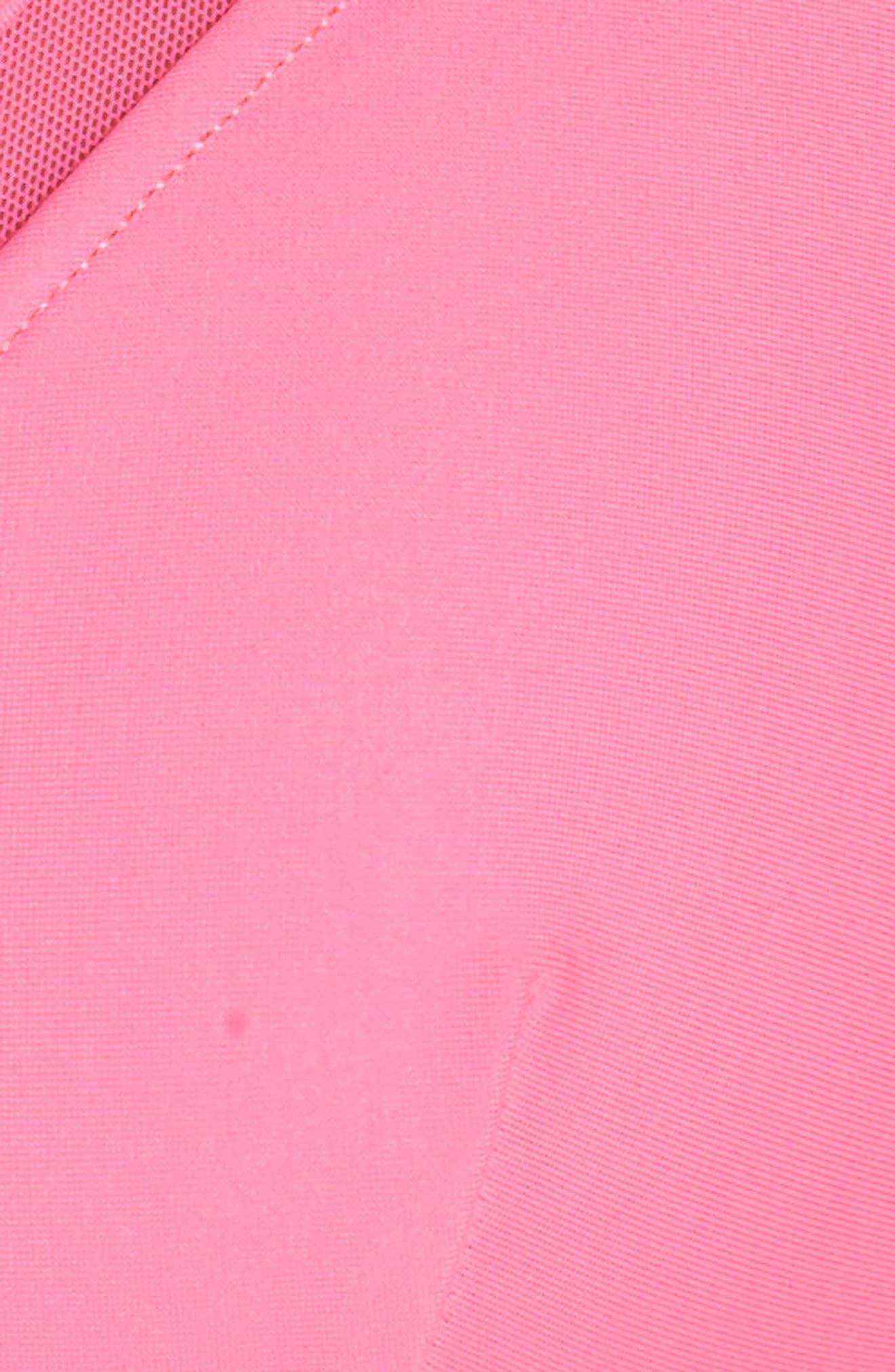 Mesh Inset Bikini Top,                             Alternate thumbnail 5, color,                             Fuchsia