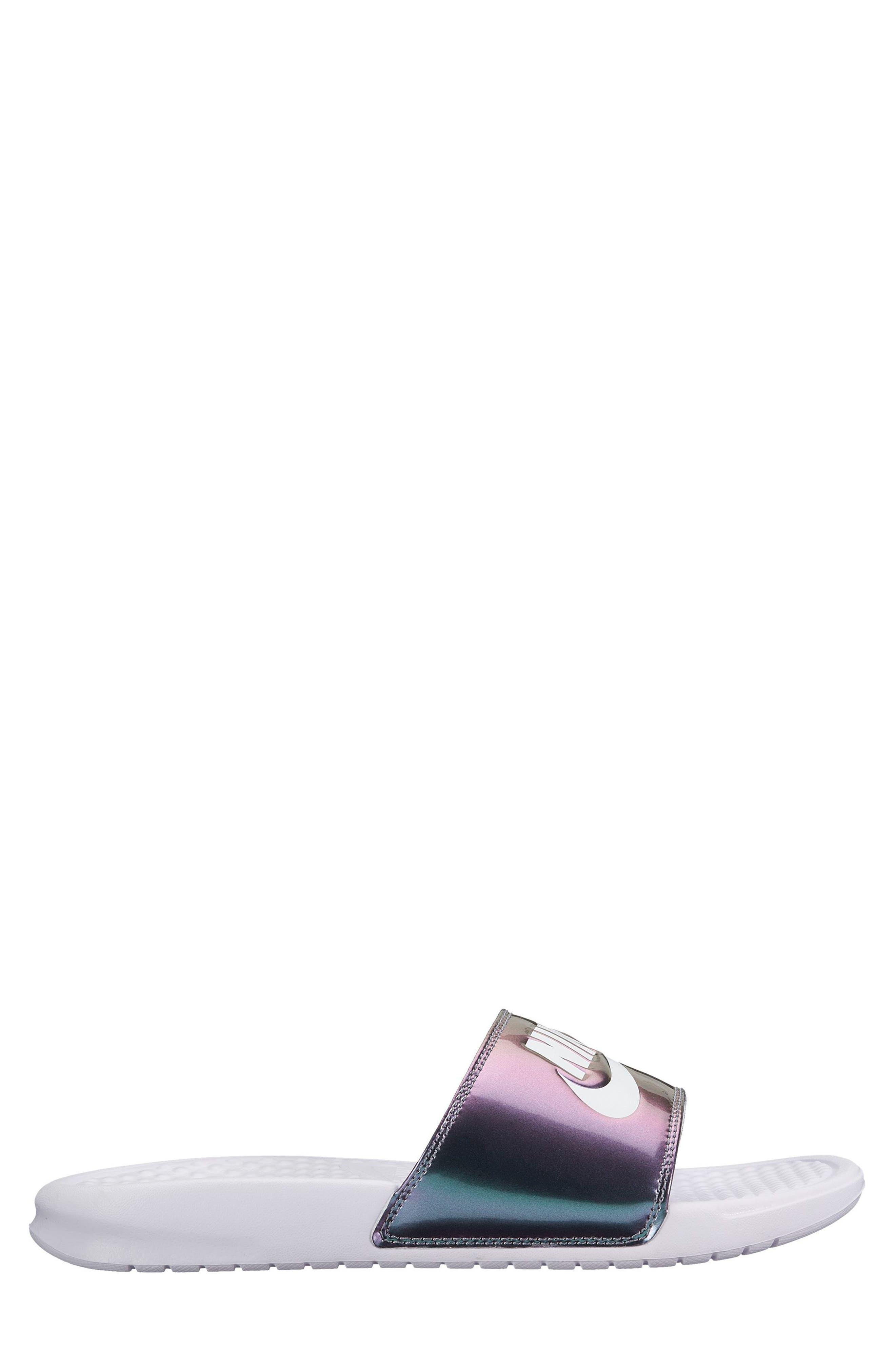 Nike Benassi Just Do It Print Sandal (Women)