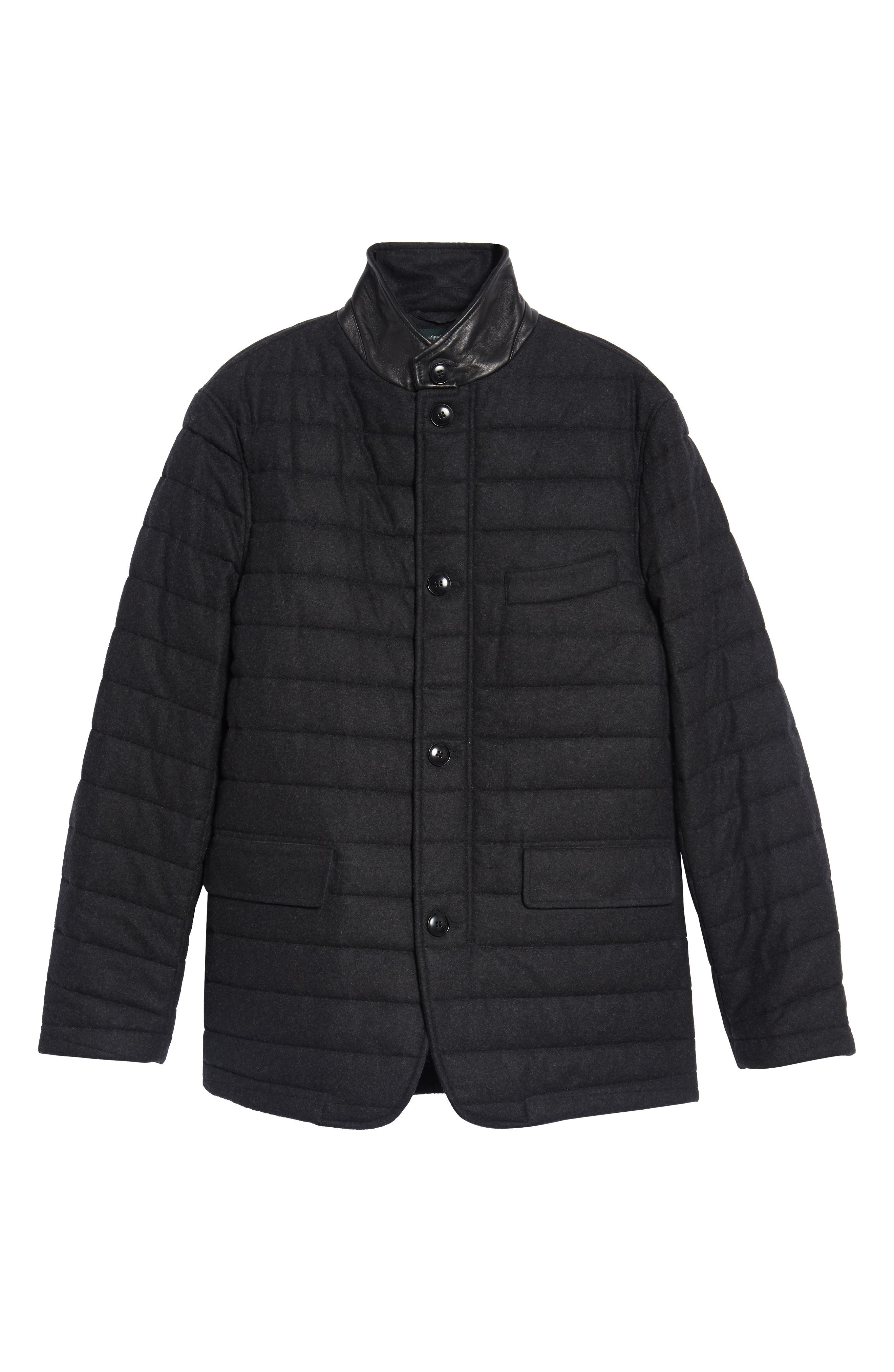 Leighton Place Padded Field Coat,                             Alternate thumbnail 6, color,                             Coal