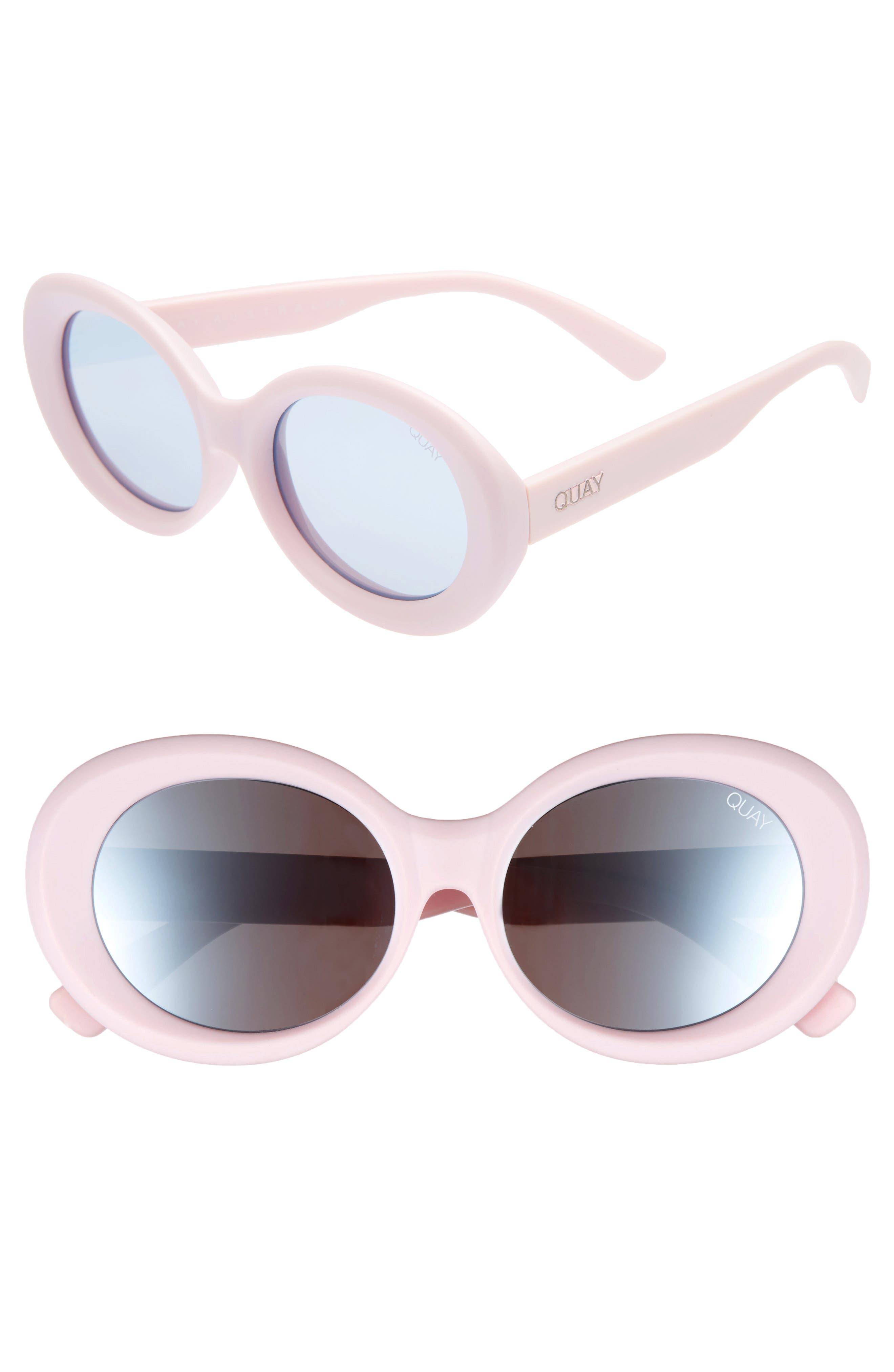 Mess Around 52mm Oval Sunglasses,                         Main,                         color, Lilac/ Smoke