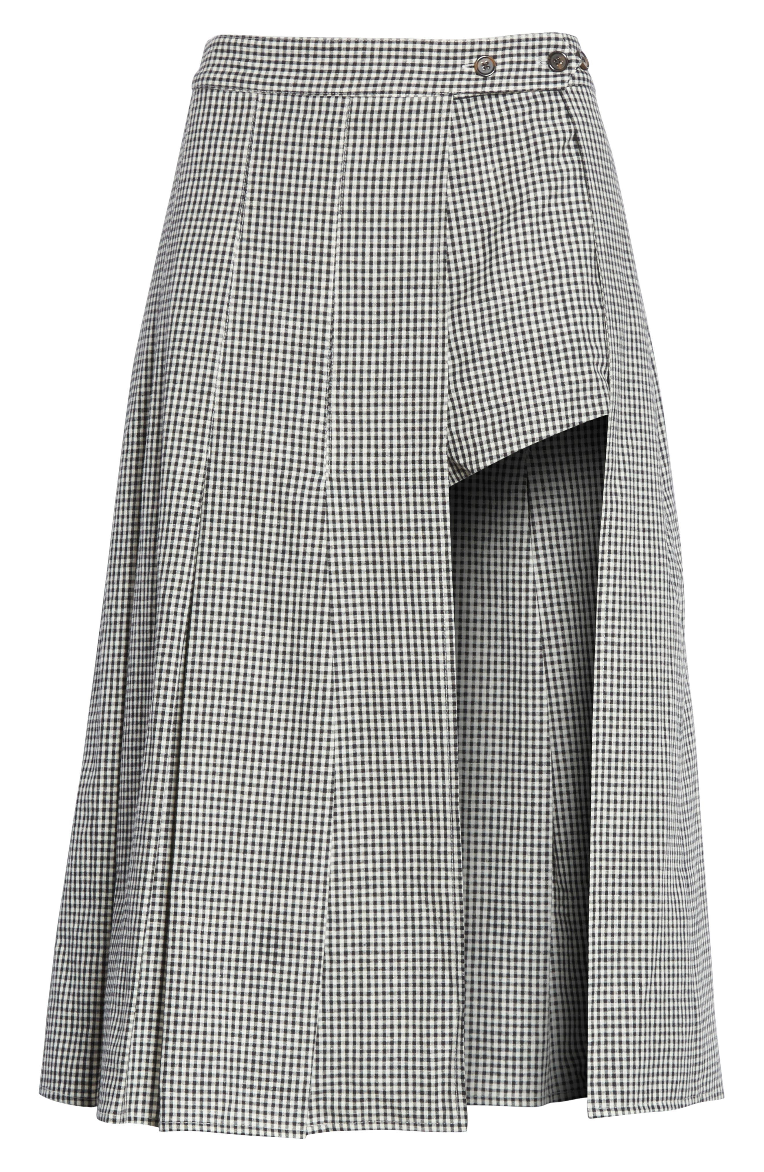 Alternate Image 6  - Sandy Liang Uniform Gingham Linen & Cotton Skirt
