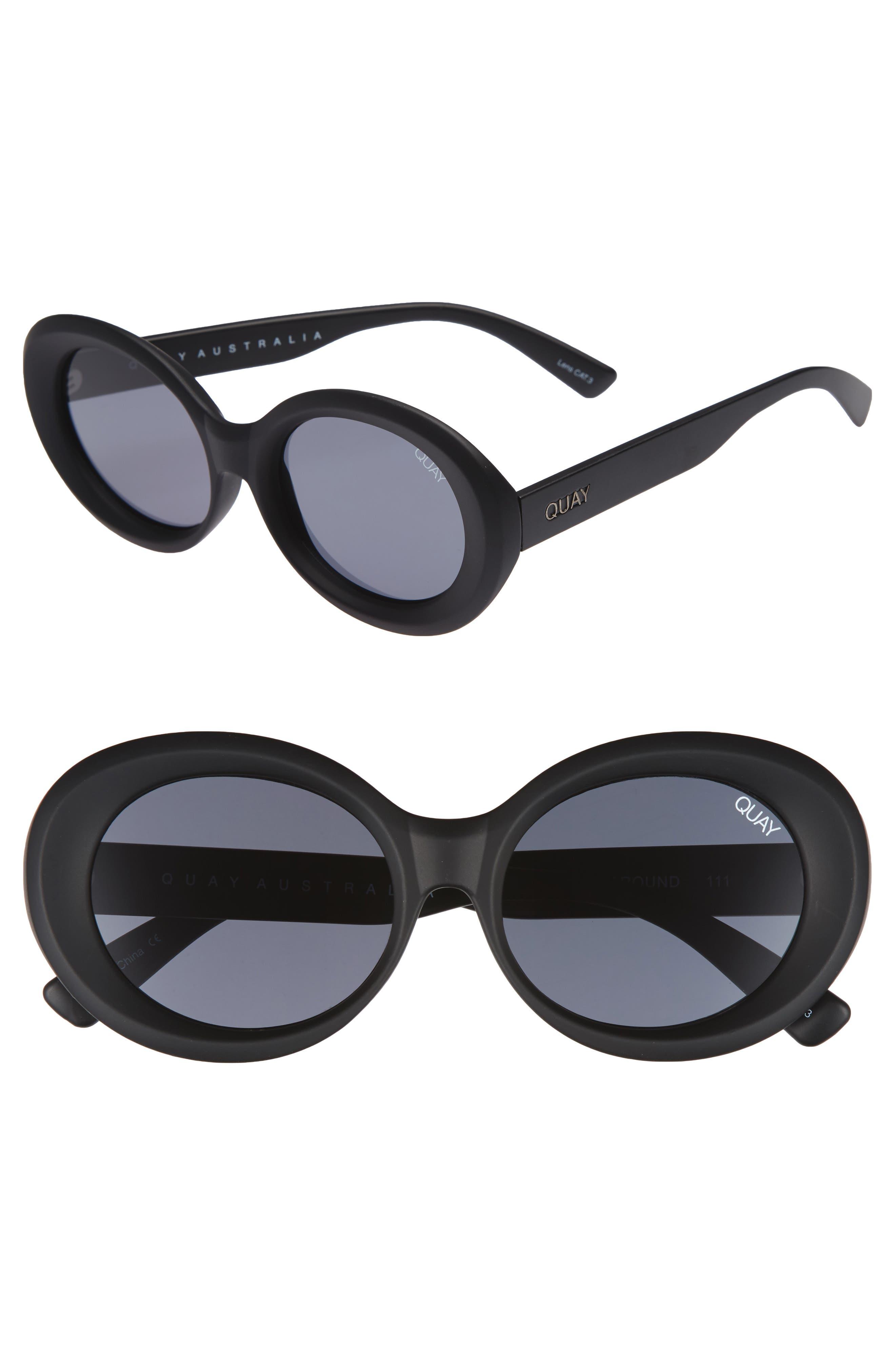 Alternate Image 1 Selected - Quay Australia Mess Around 52mm Oval Sunglasses