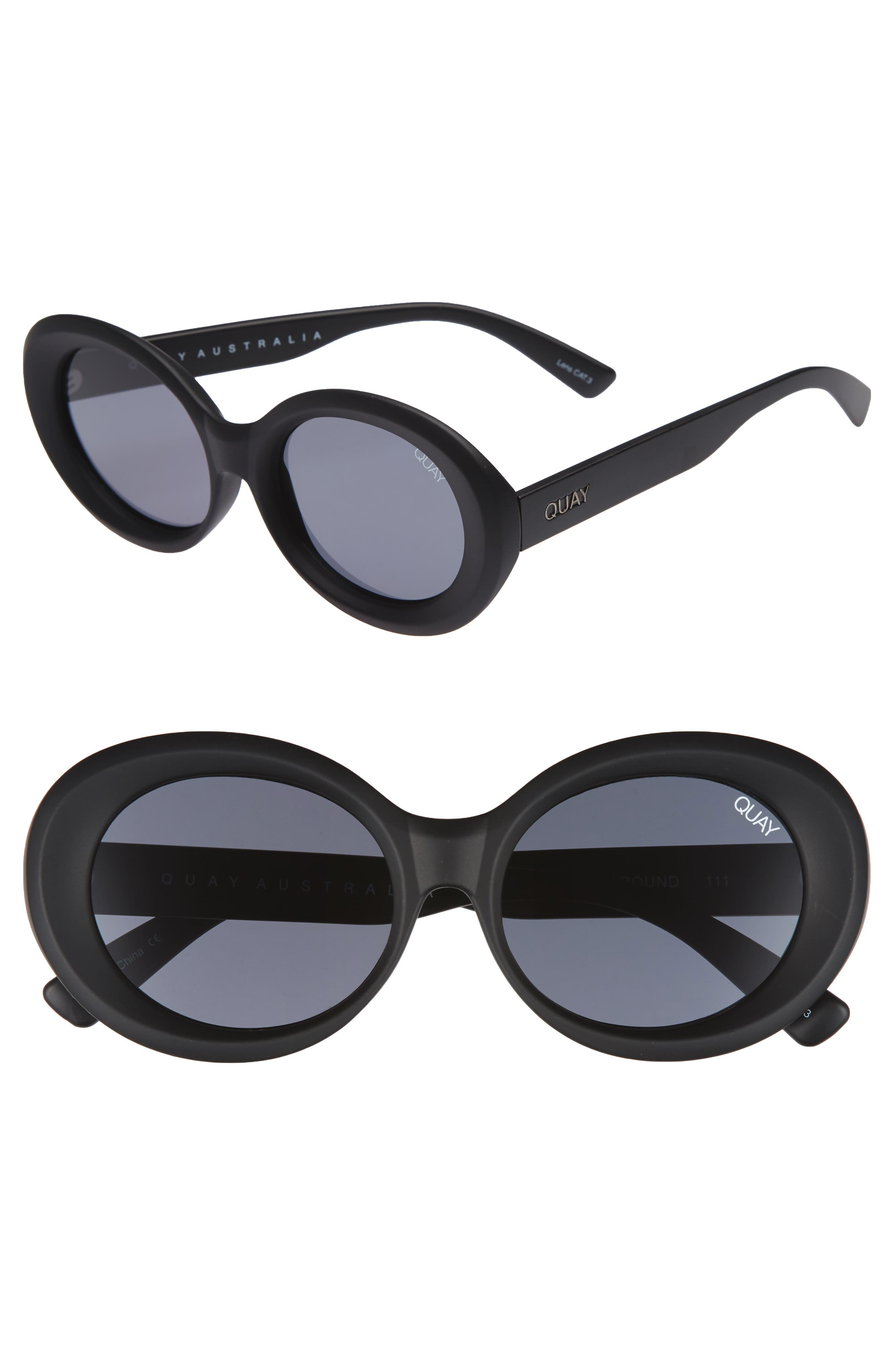 Main Image - Quay Australia Mess Around 52mm Oval Sunglasses