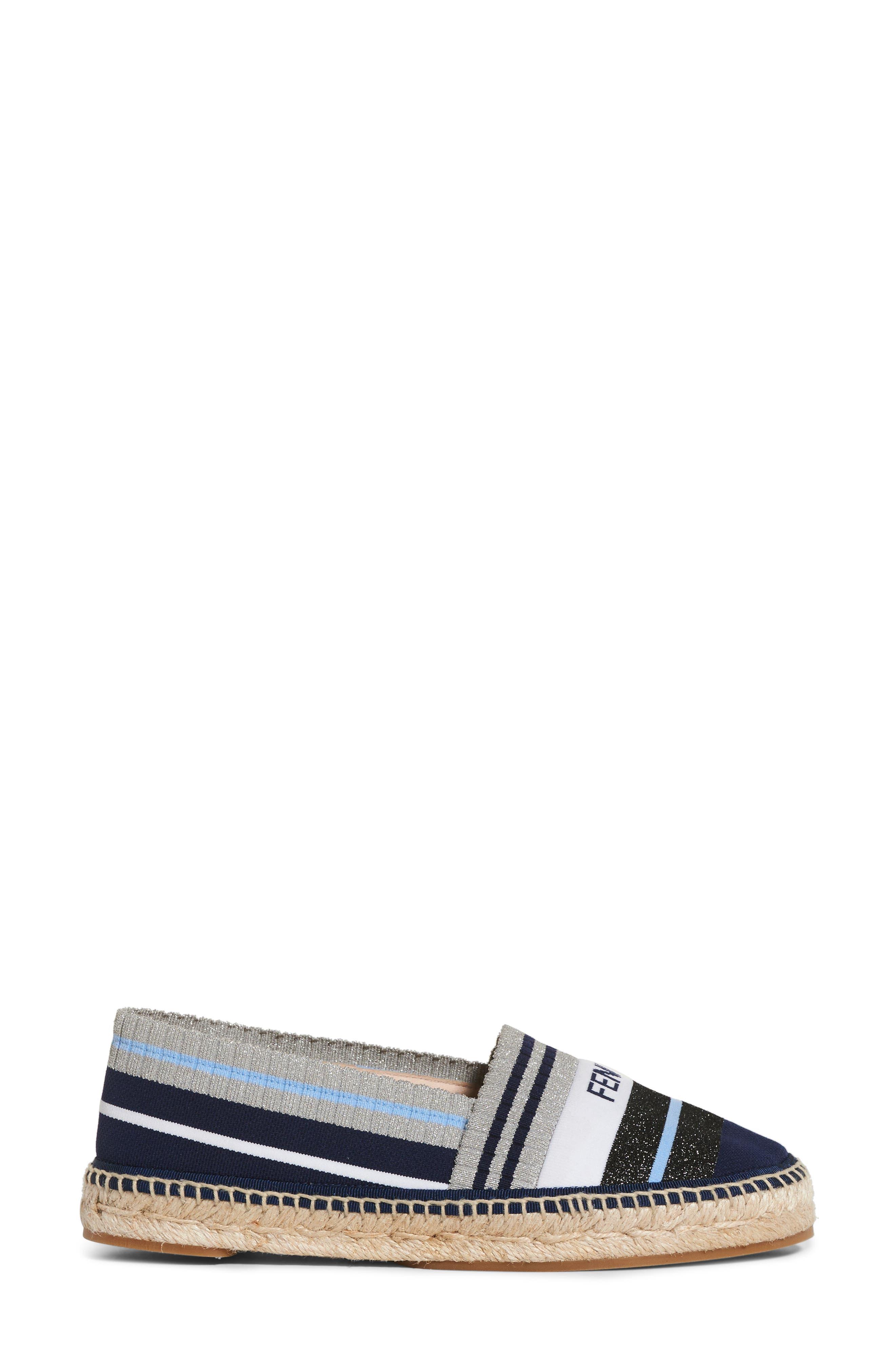 Rockoko Logo Sock Espadrille,                             Alternate thumbnail 4, color,                             Grey