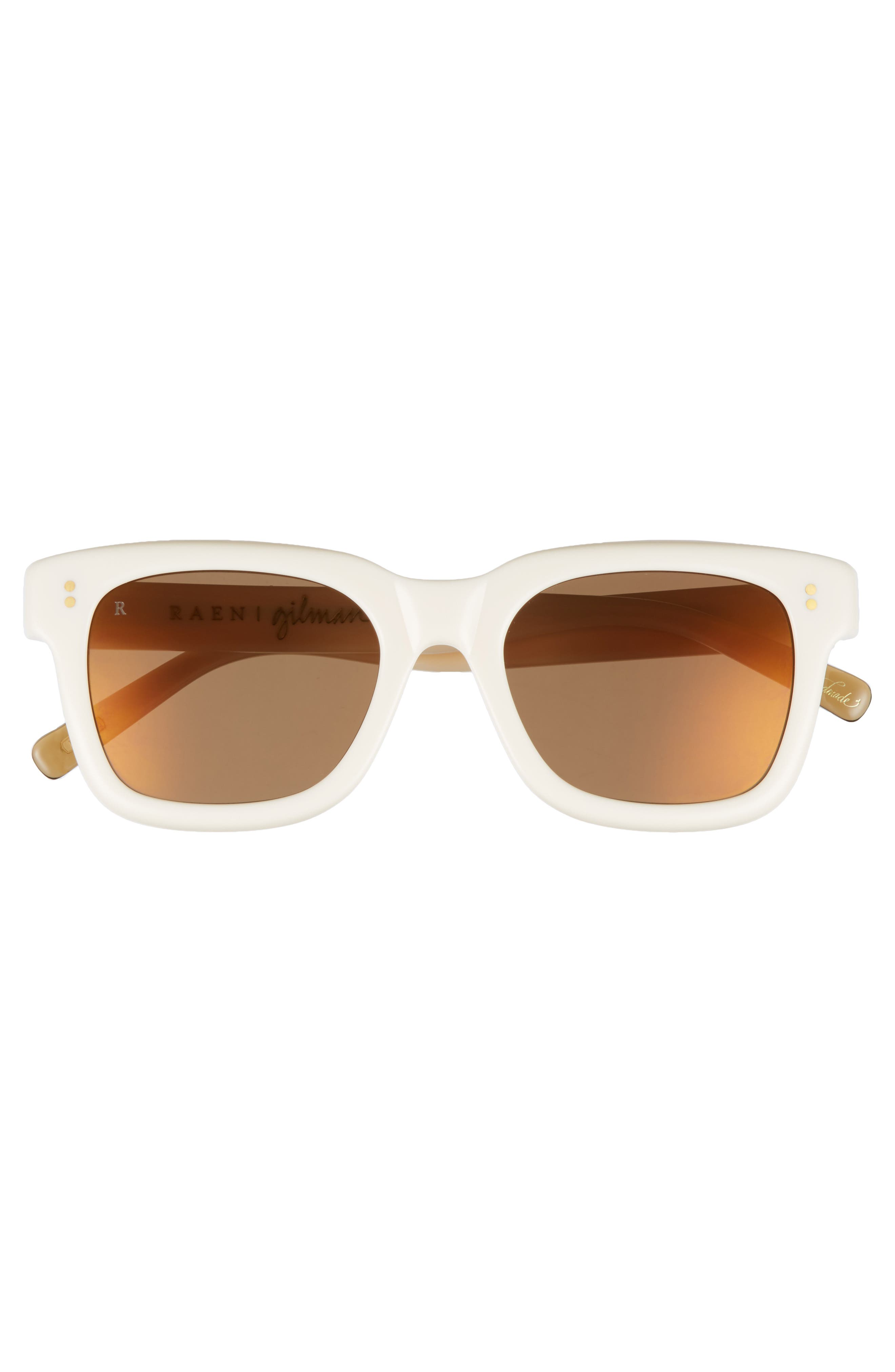 Gilman 52mm Mirrored Polarized Sunglasses,                             Alternate thumbnail 2, color,                             Rose/ Brown Silver Mirror