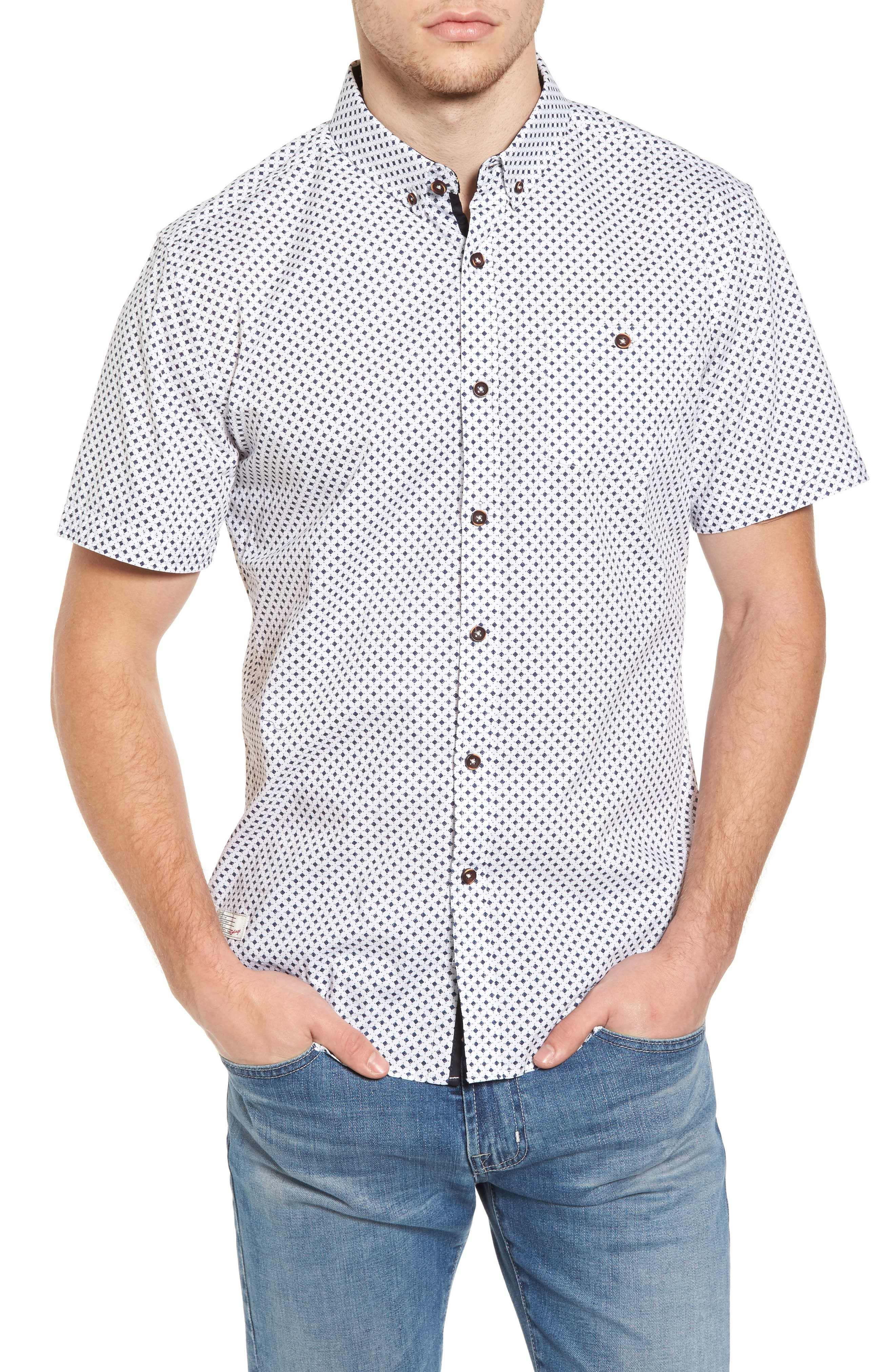 7 Diamonds Mind Reader Woven Shirt