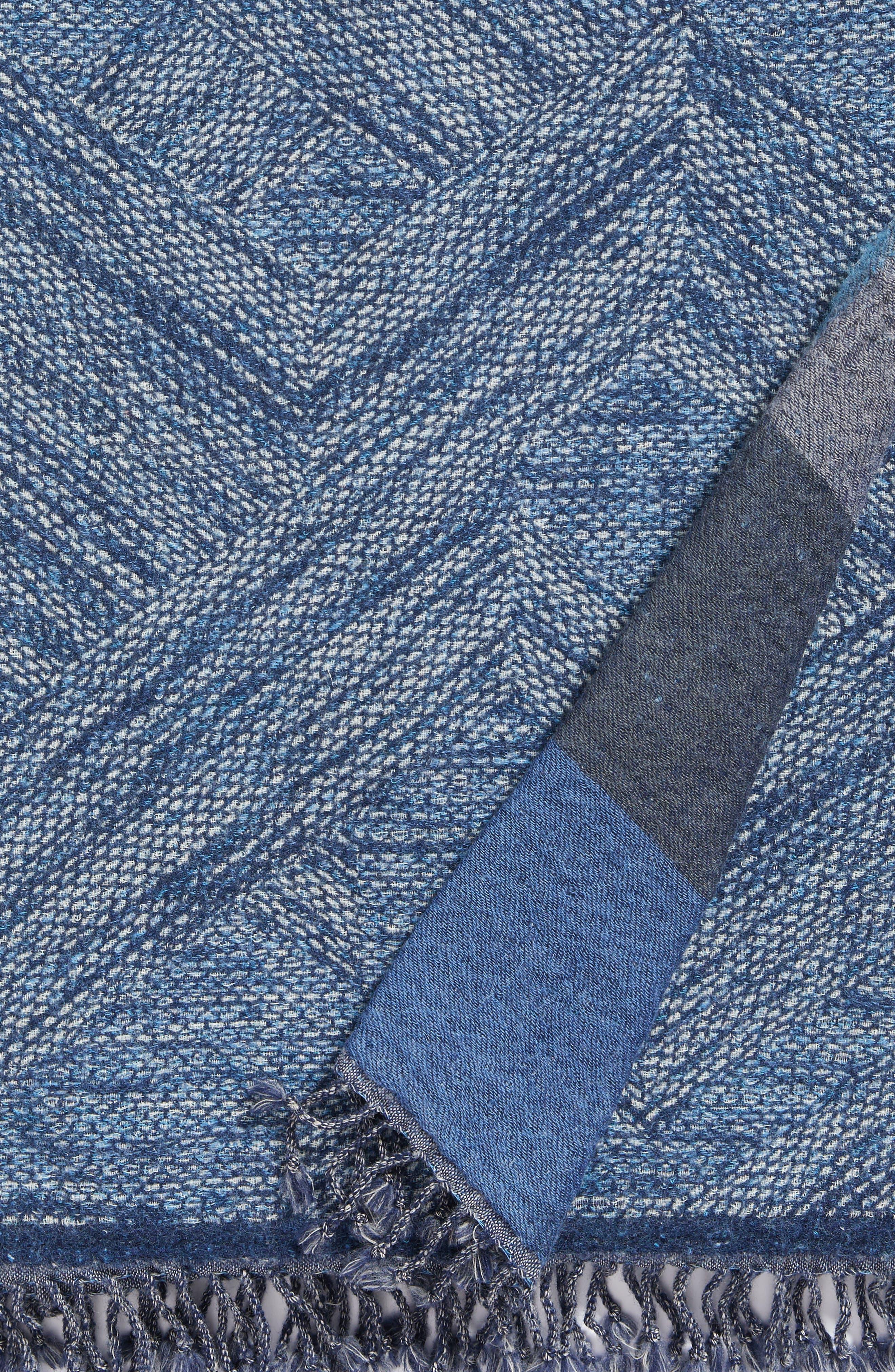 Alternate Image 5  - Modern Staples Chevron Double Face Merino Wool Throw