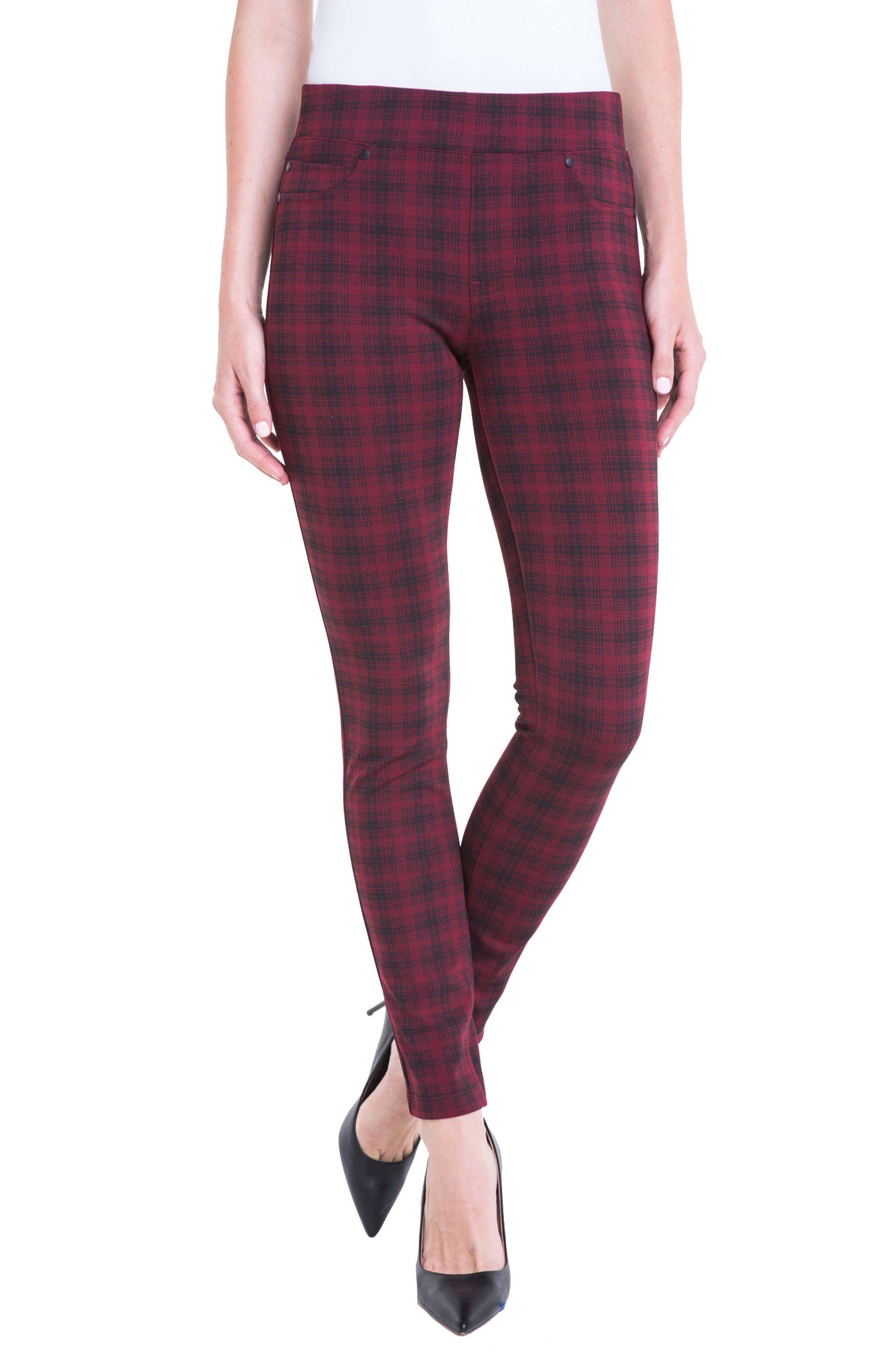 Alternate Image 1 Selected - Liverpool Jeans Company Sienna Plaid Leggings