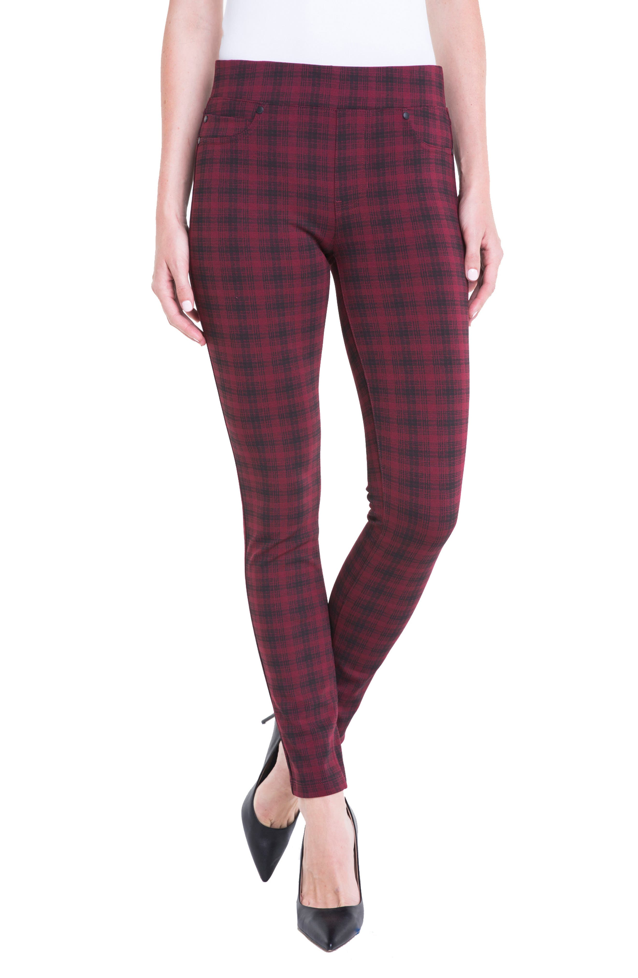 Liverpool Jeans Company Sienna Plaid Leggings