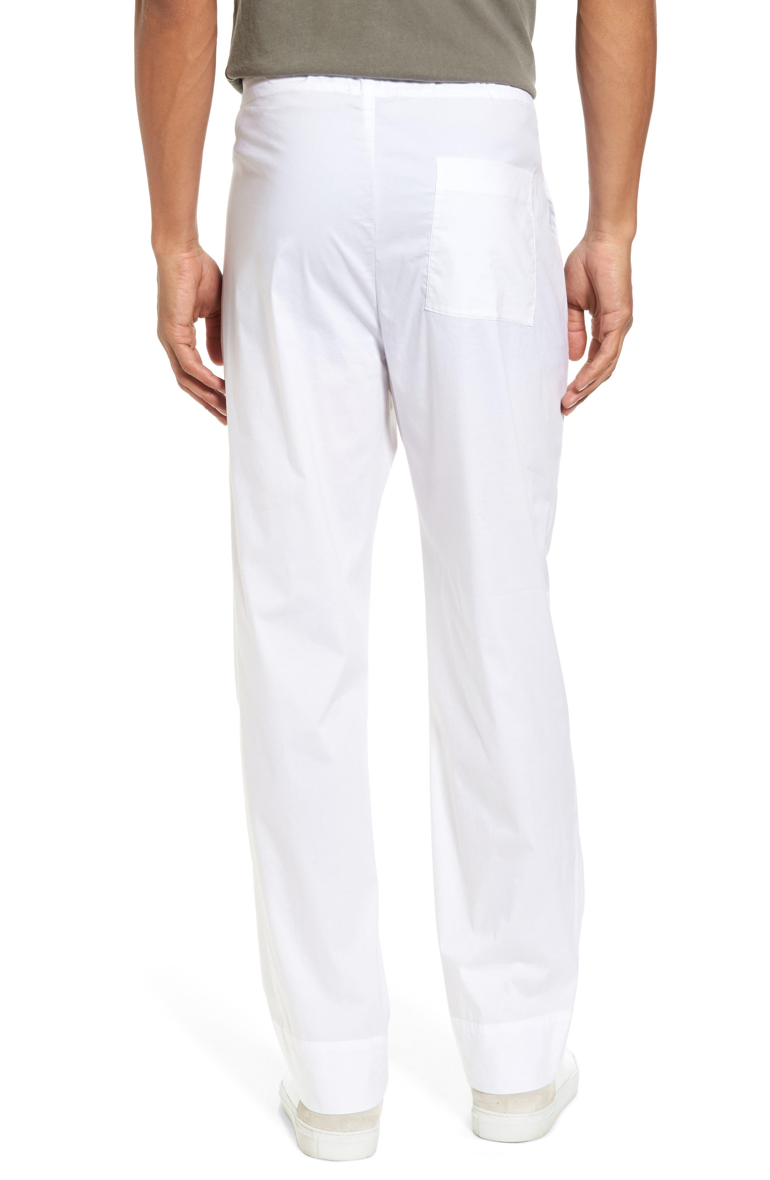 Drawstring Waist Pants,                             Alternate thumbnail 2, color,                             White